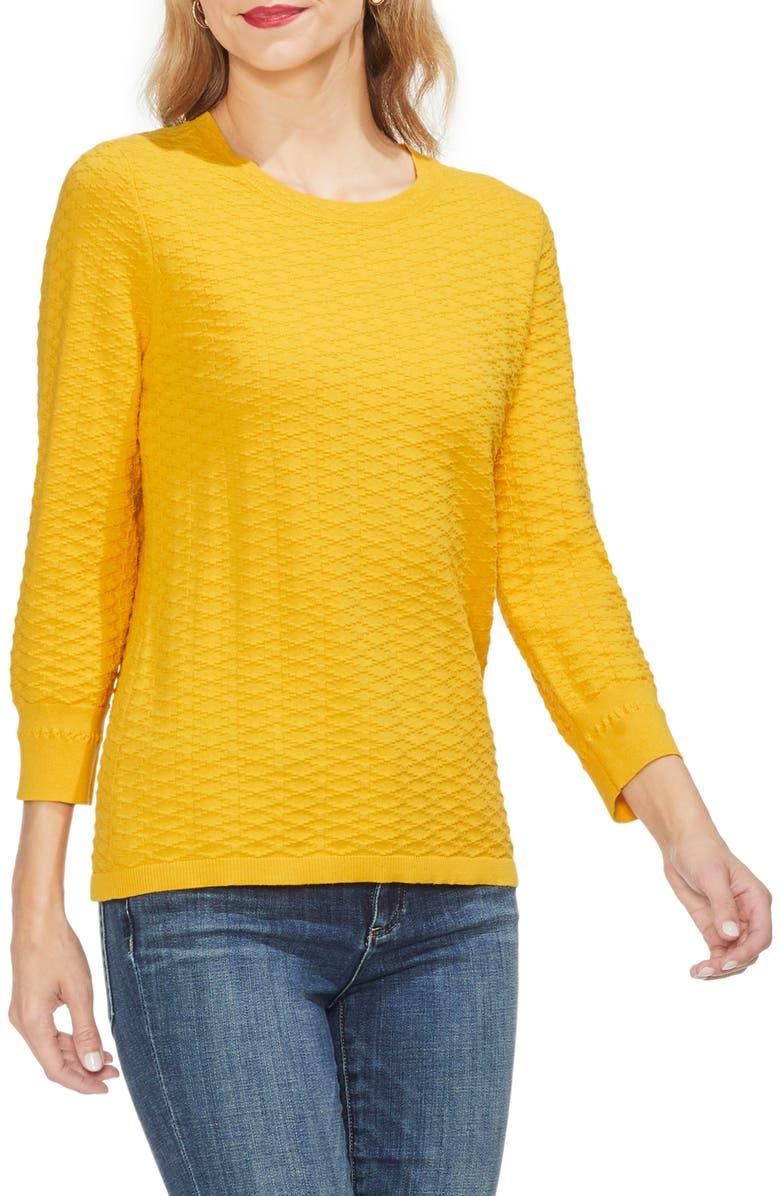 765dac985dfb Vince Camuto Rhombus Stitch Sweater In Citrus Flower