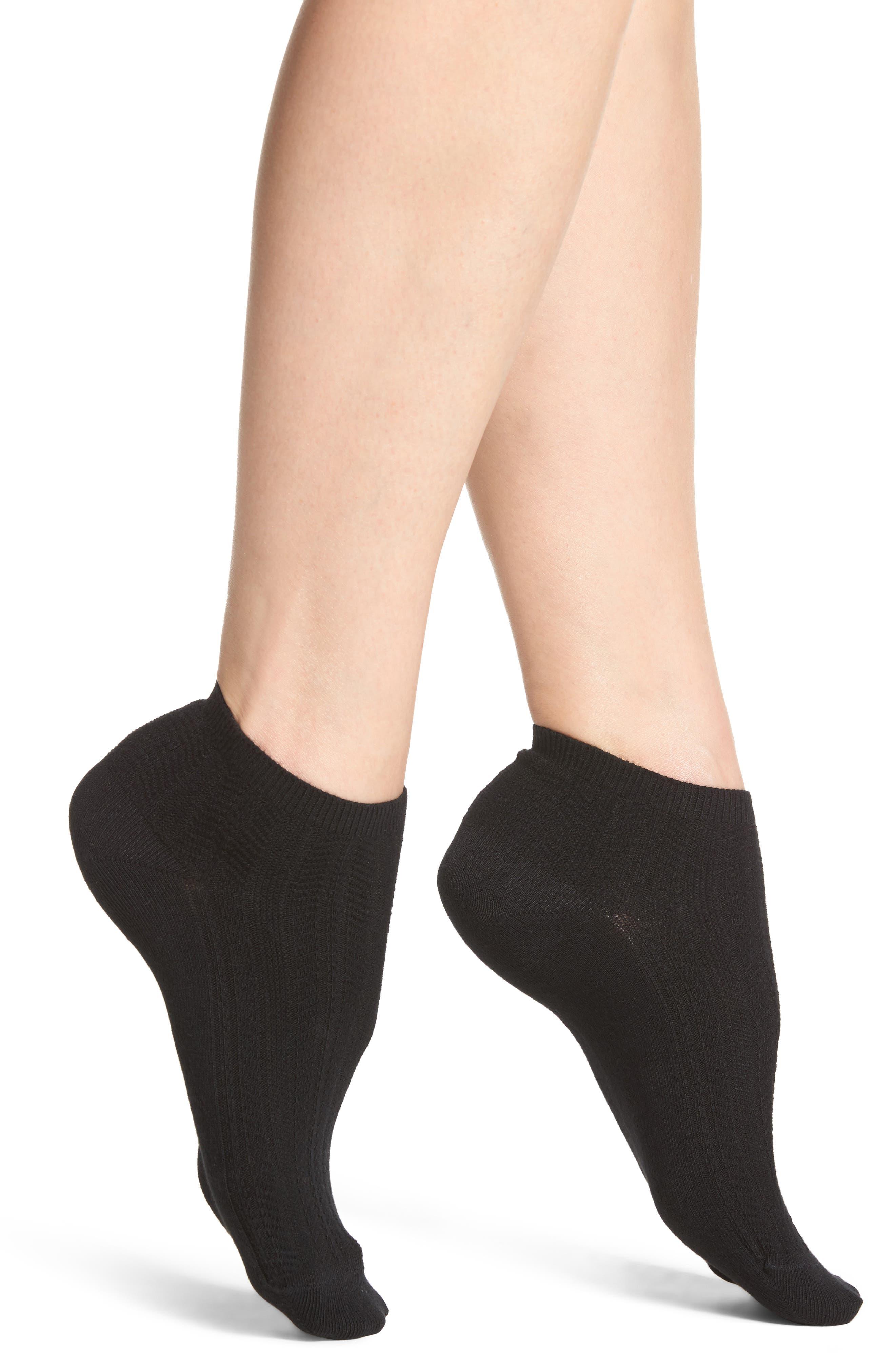 Knit Ankle Socks,                             Main thumbnail 1, color,                             001