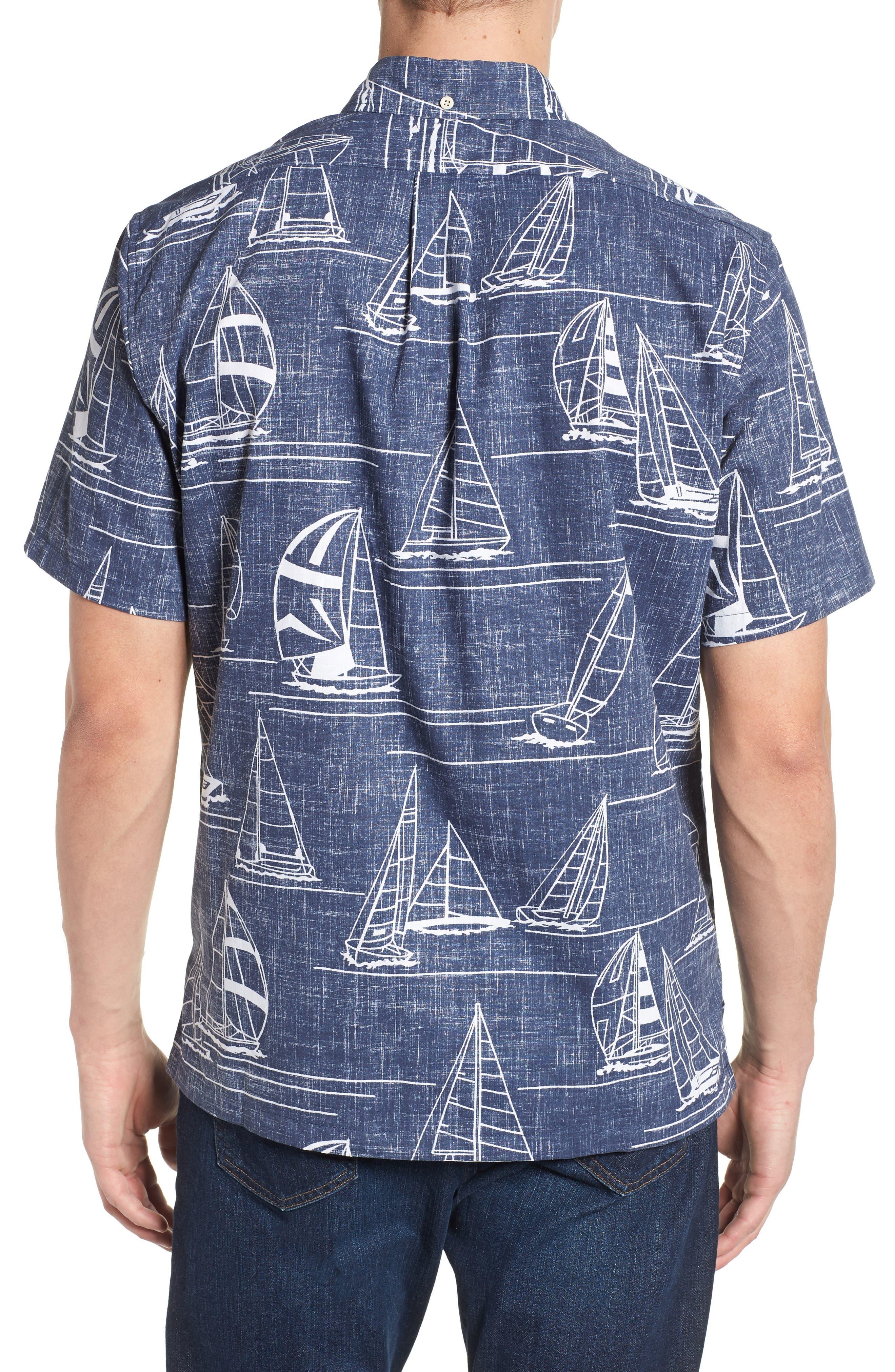 Newport 2 Honolulu Classic Fit Print Sport Shirt,                             Alternate thumbnail 2, color,                             INK
