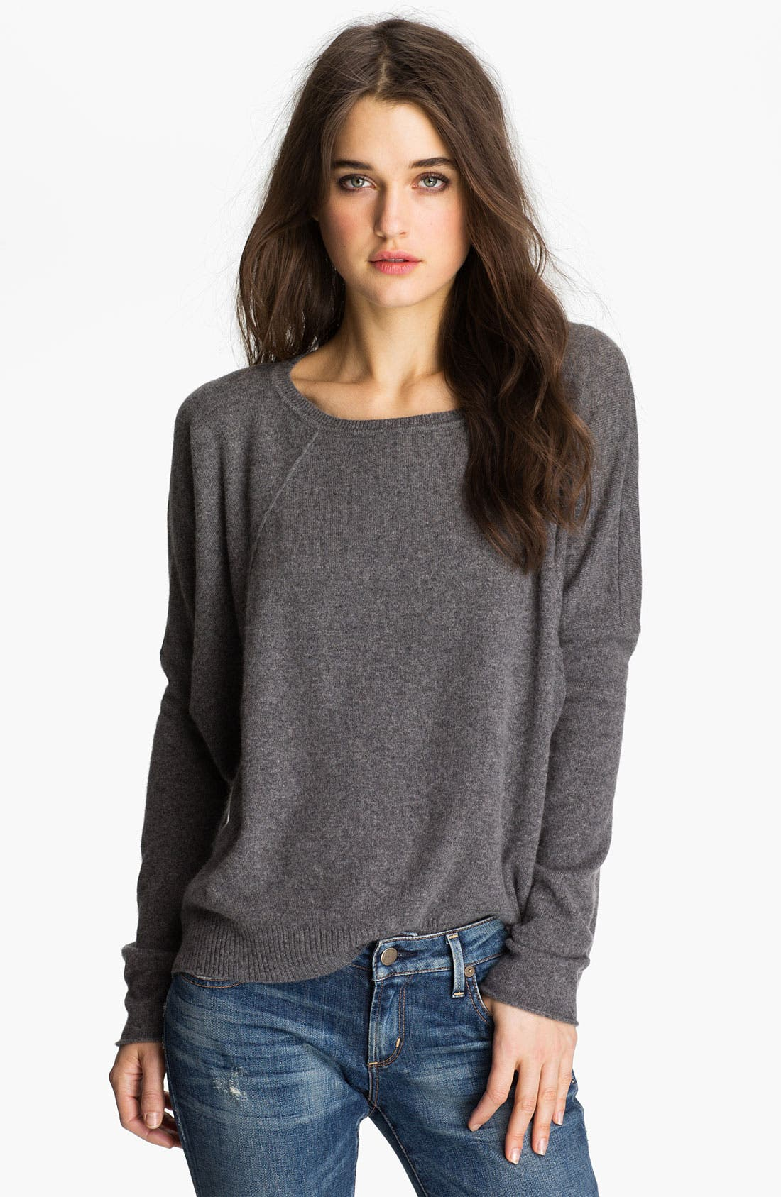 VELVET BY GRAHAM & SPENCER Slouchy Cashmere Sweater, Main, color, 050