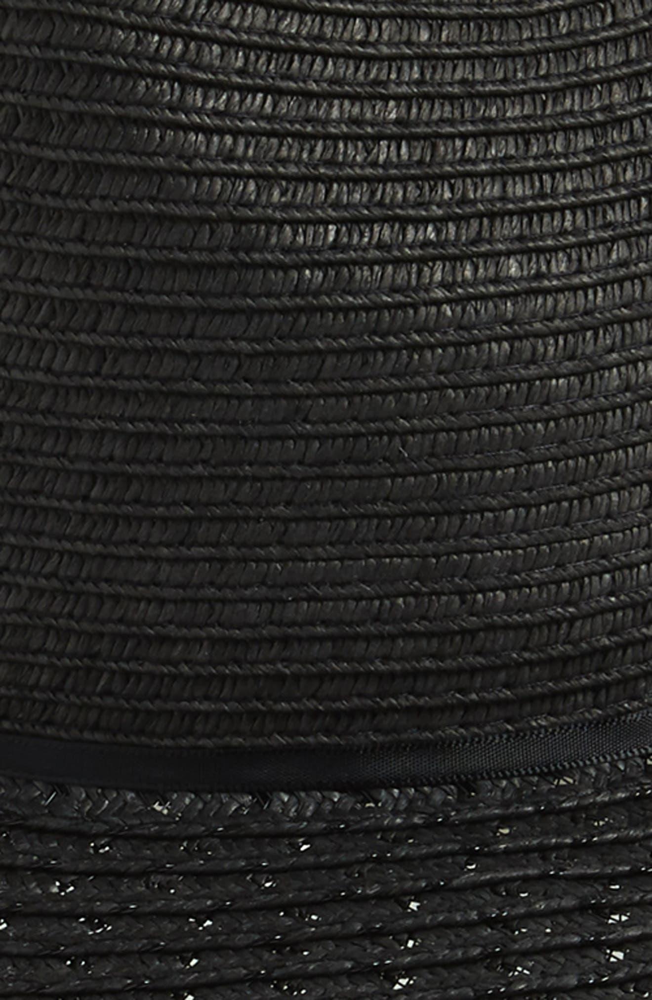 Straw Panama Hat,                             Alternate thumbnail 2, color,                             001