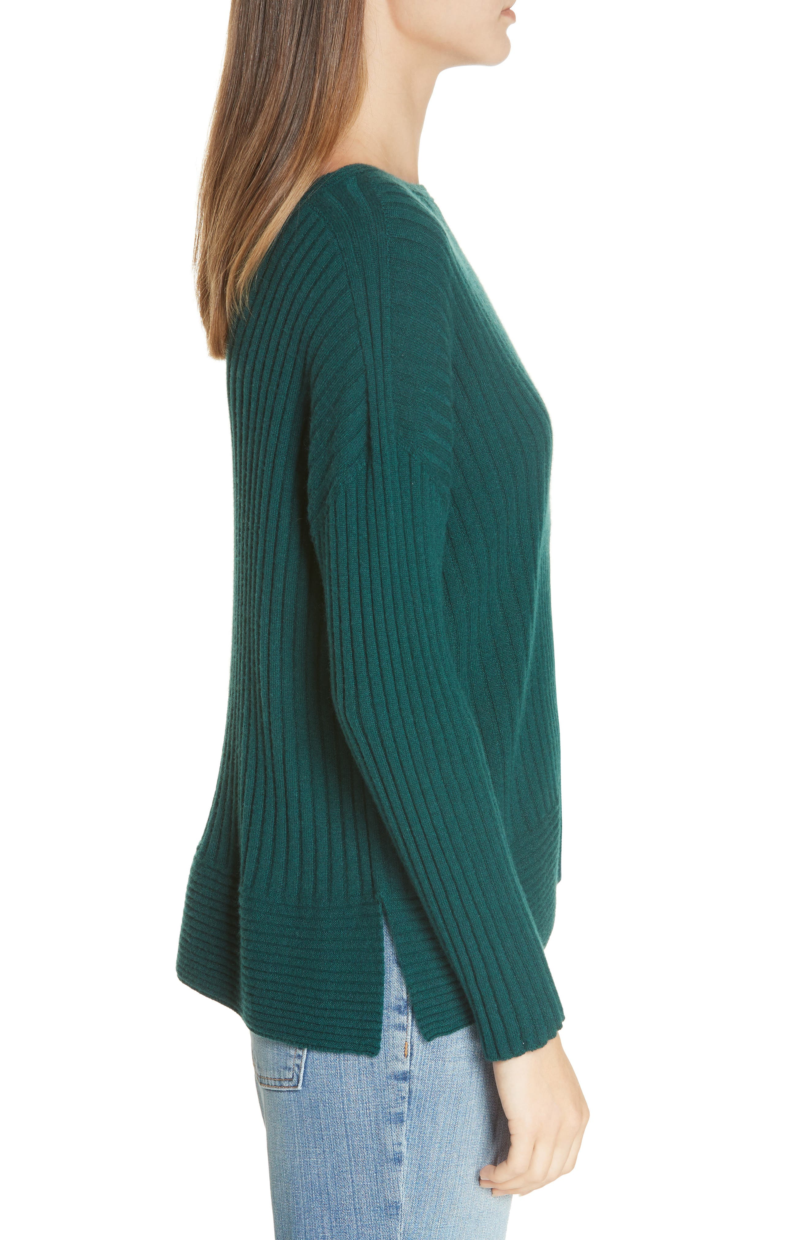 Ribbed Cashmere Sweater,                             Alternate thumbnail 3, color,                             303