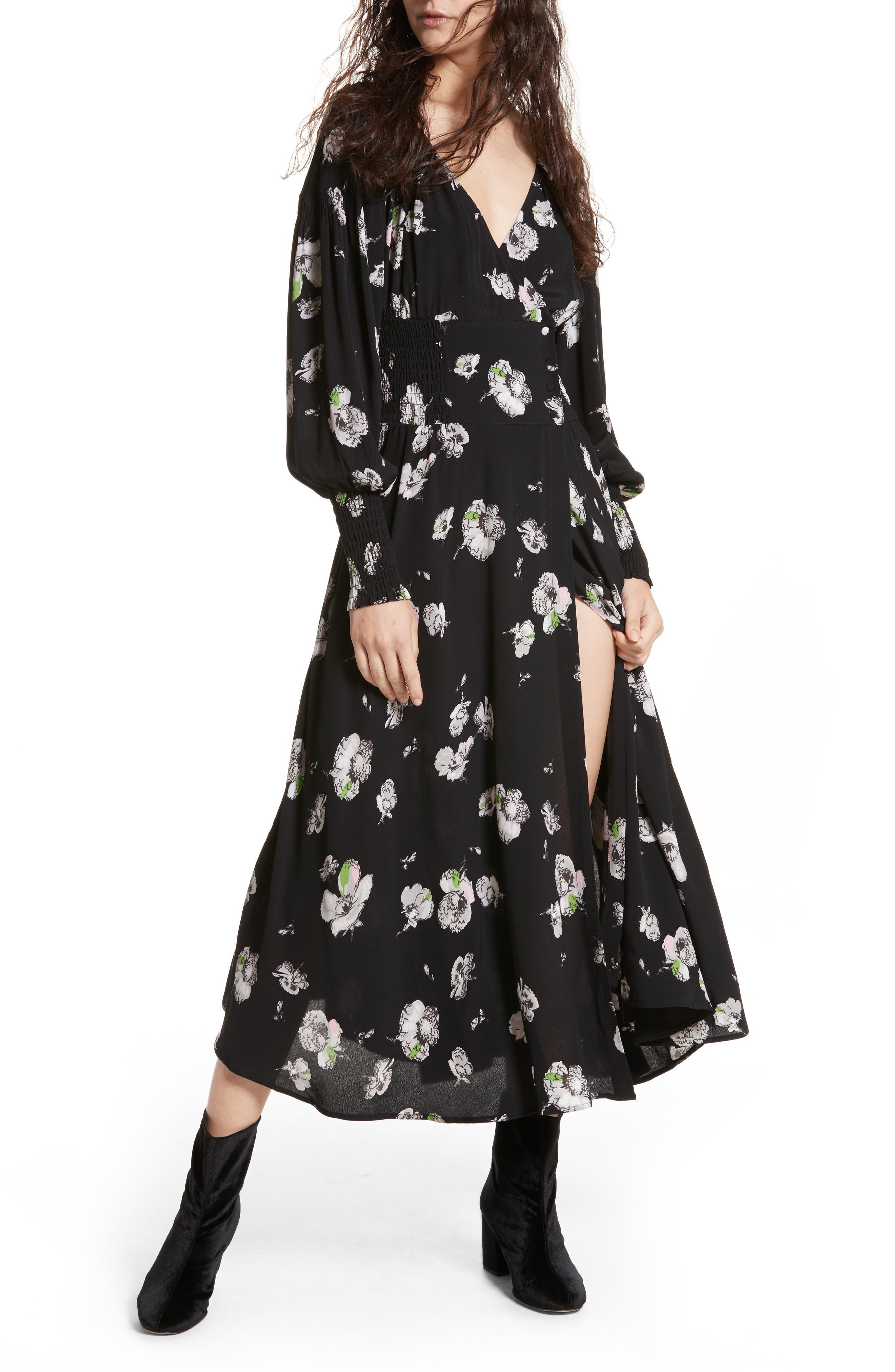 So Sweetly Midi Dress,                         Main,                         color, 001