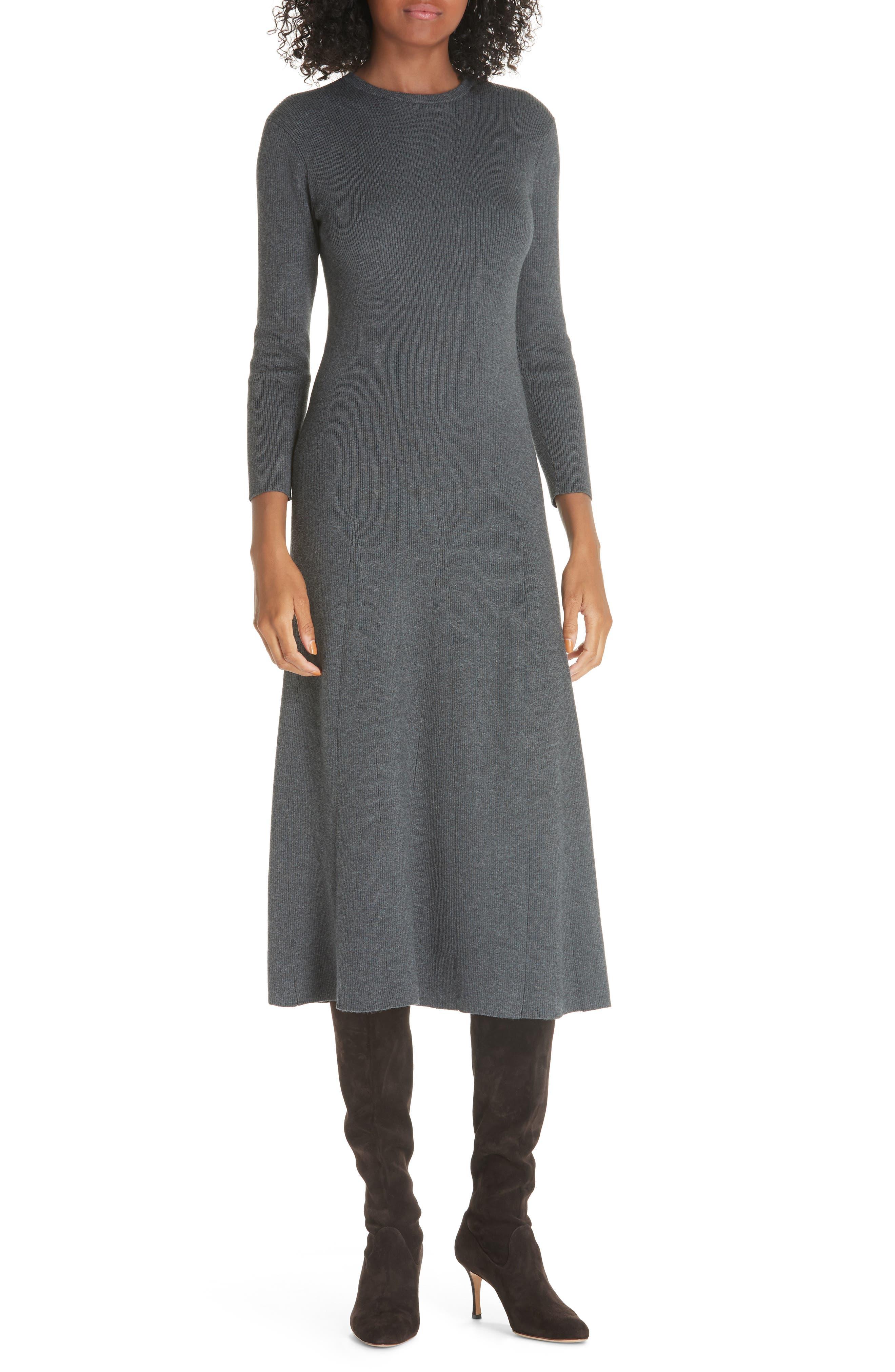 Midi Sweater Dress,                             Main thumbnail 1, color,                             020