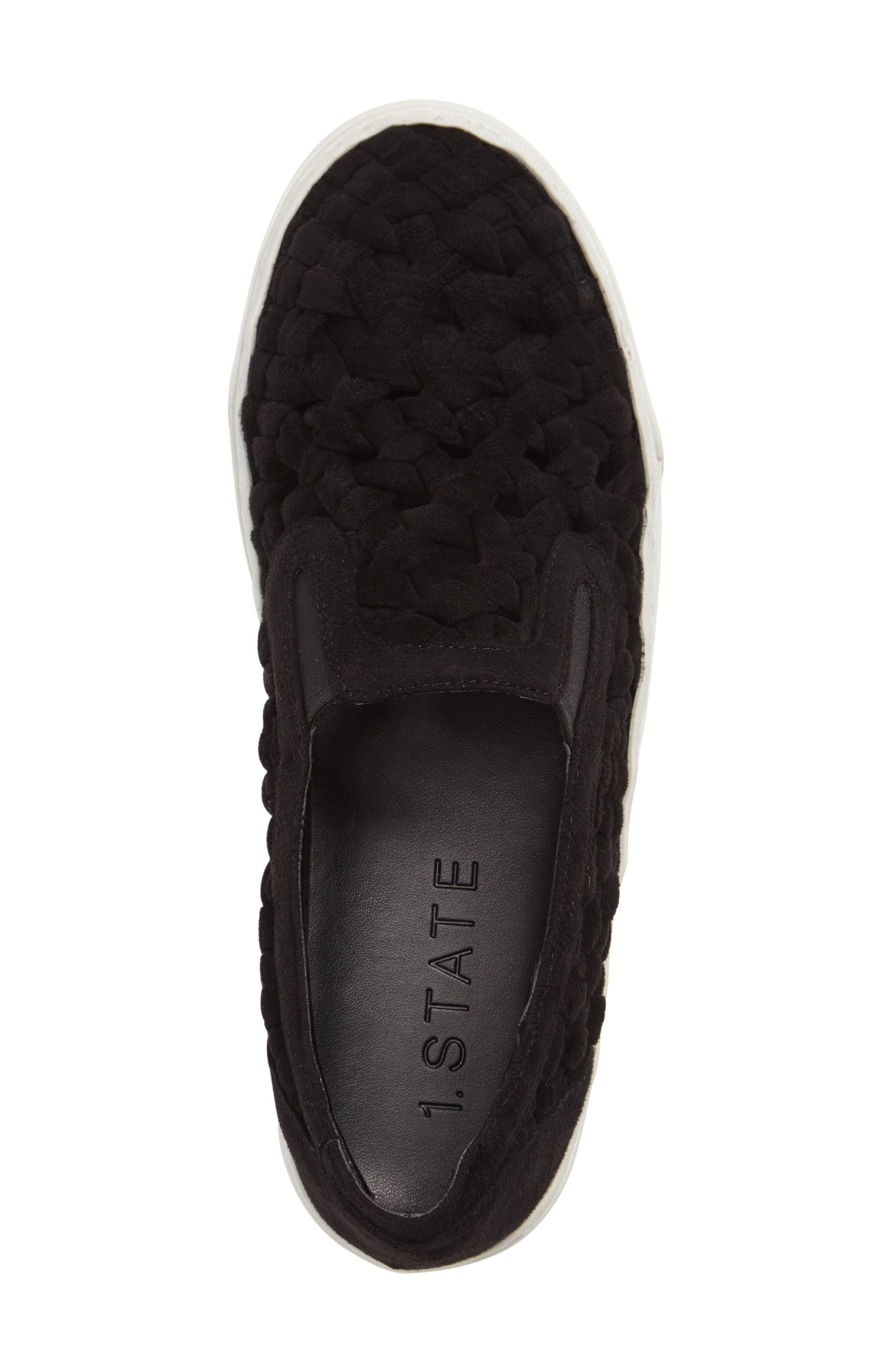Delphin Braided Slip-On Sneaker,                             Alternate thumbnail 3, color,                             001