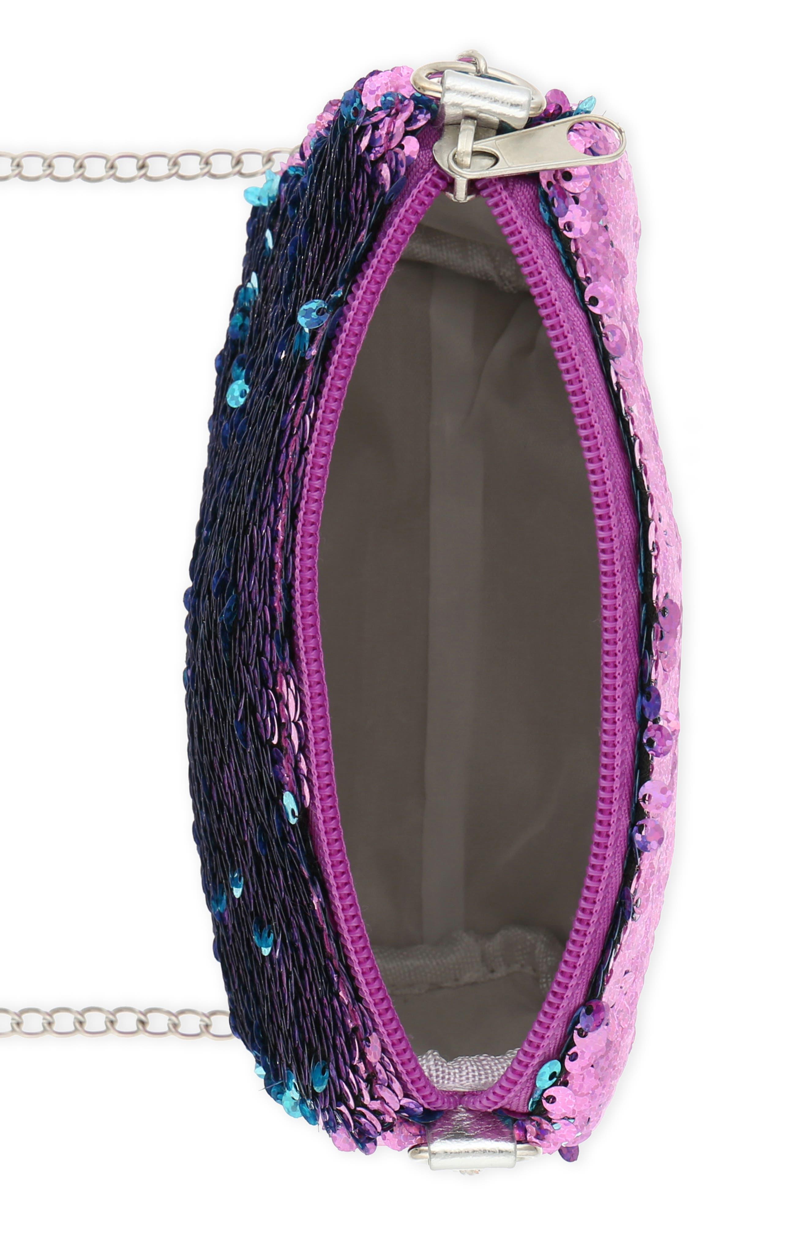 Flip Sequin Shoulder Bag,                             Alternate thumbnail 3, color,                             442