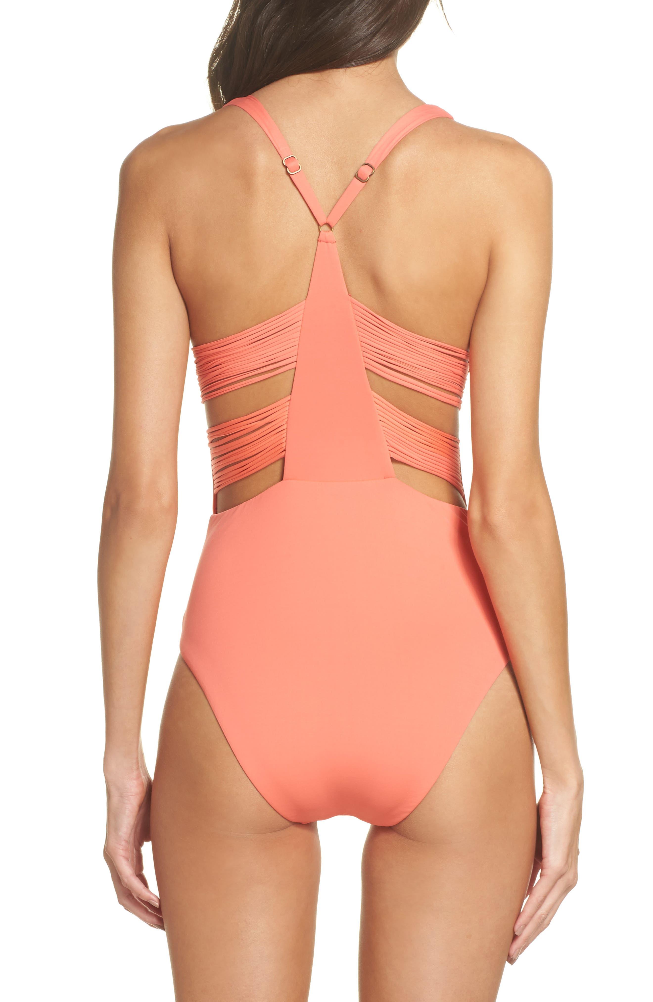Beach Solids One-Piece Swimsuit,                             Alternate thumbnail 6, color,
