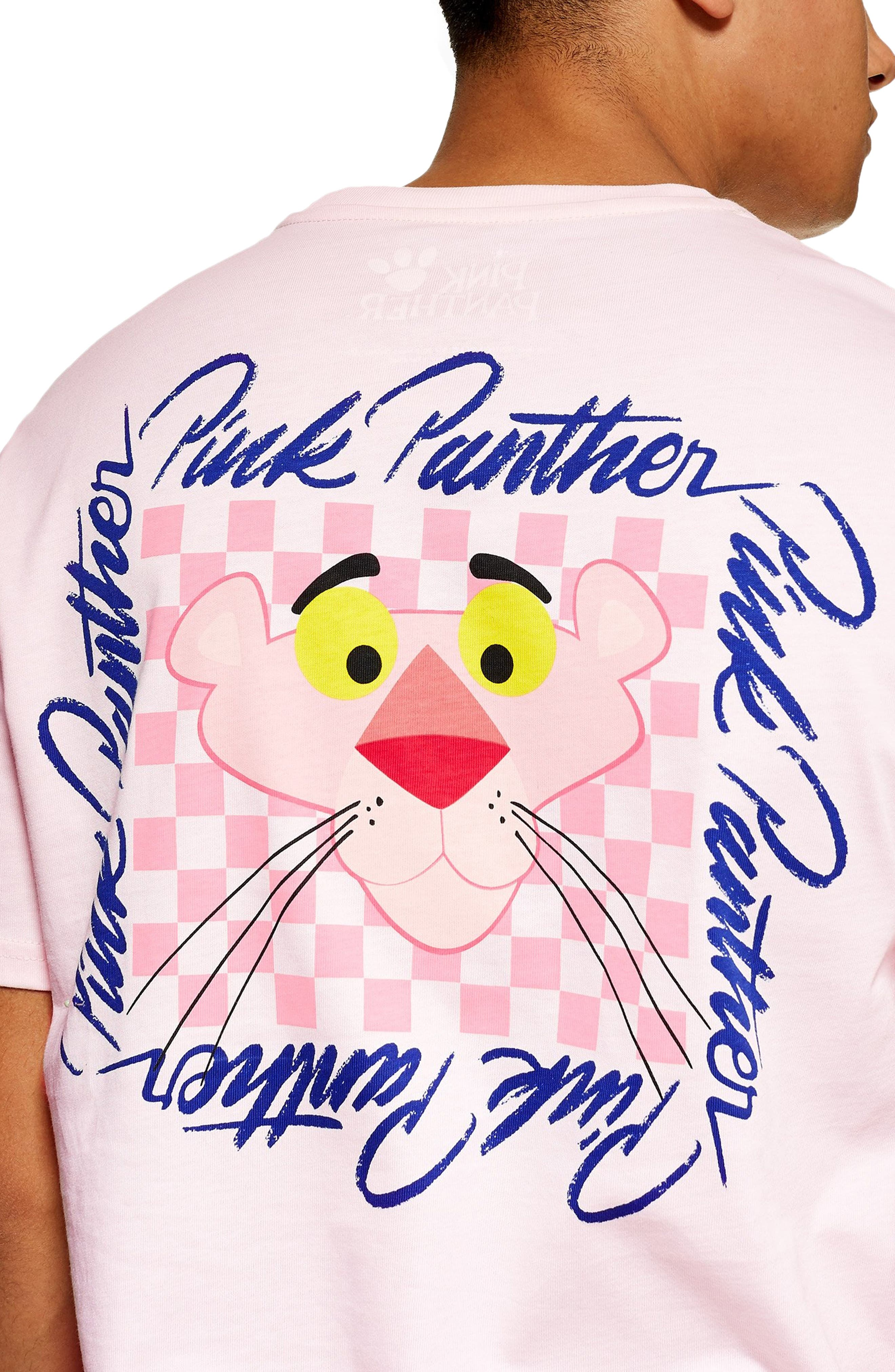 Pink Panther Graphic T-Shirt,                             Alternate thumbnail 3, color,                             PINK