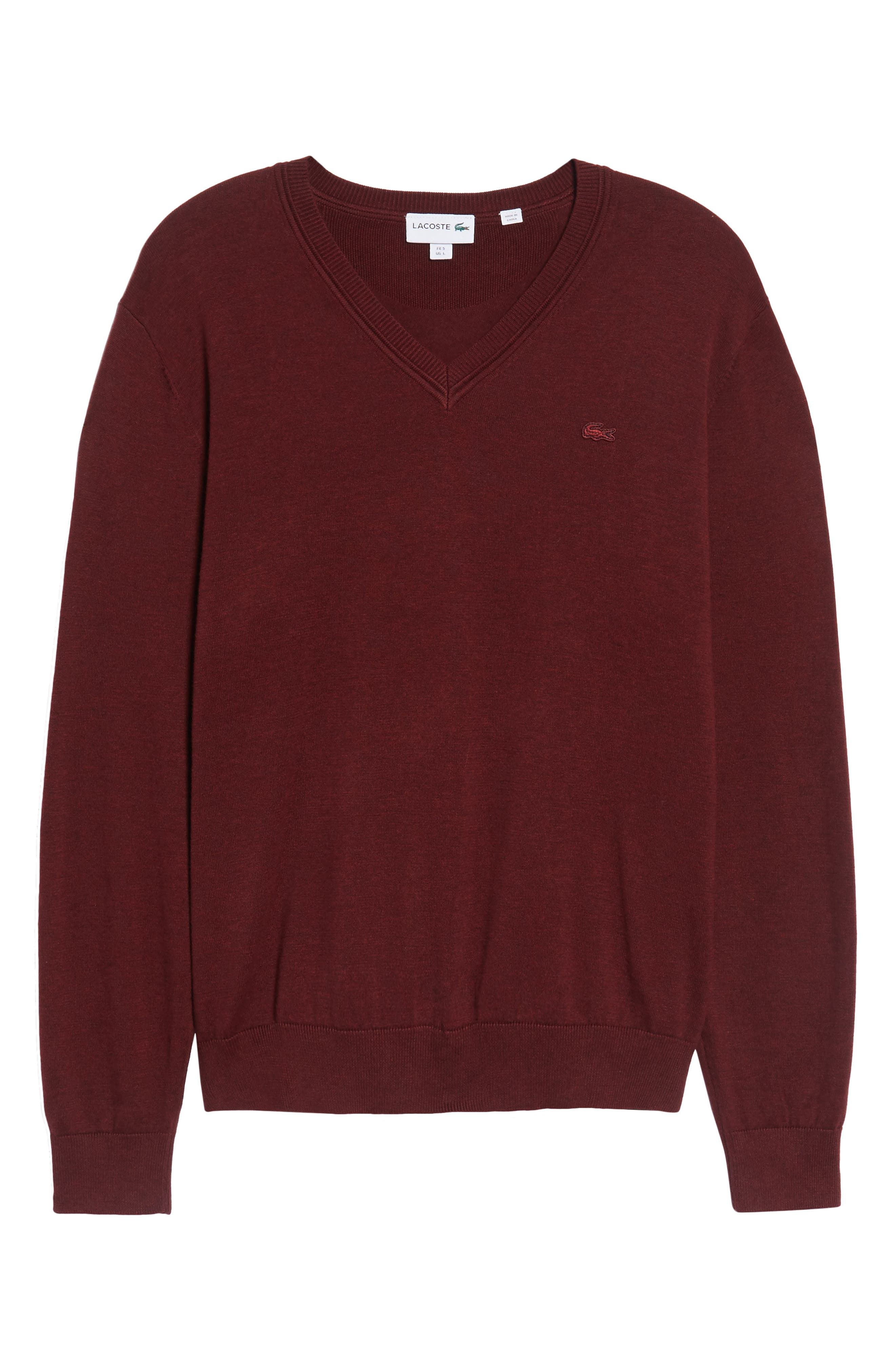Cotton Jersey V-Neck Sweater,                             Alternate thumbnail 32, color,