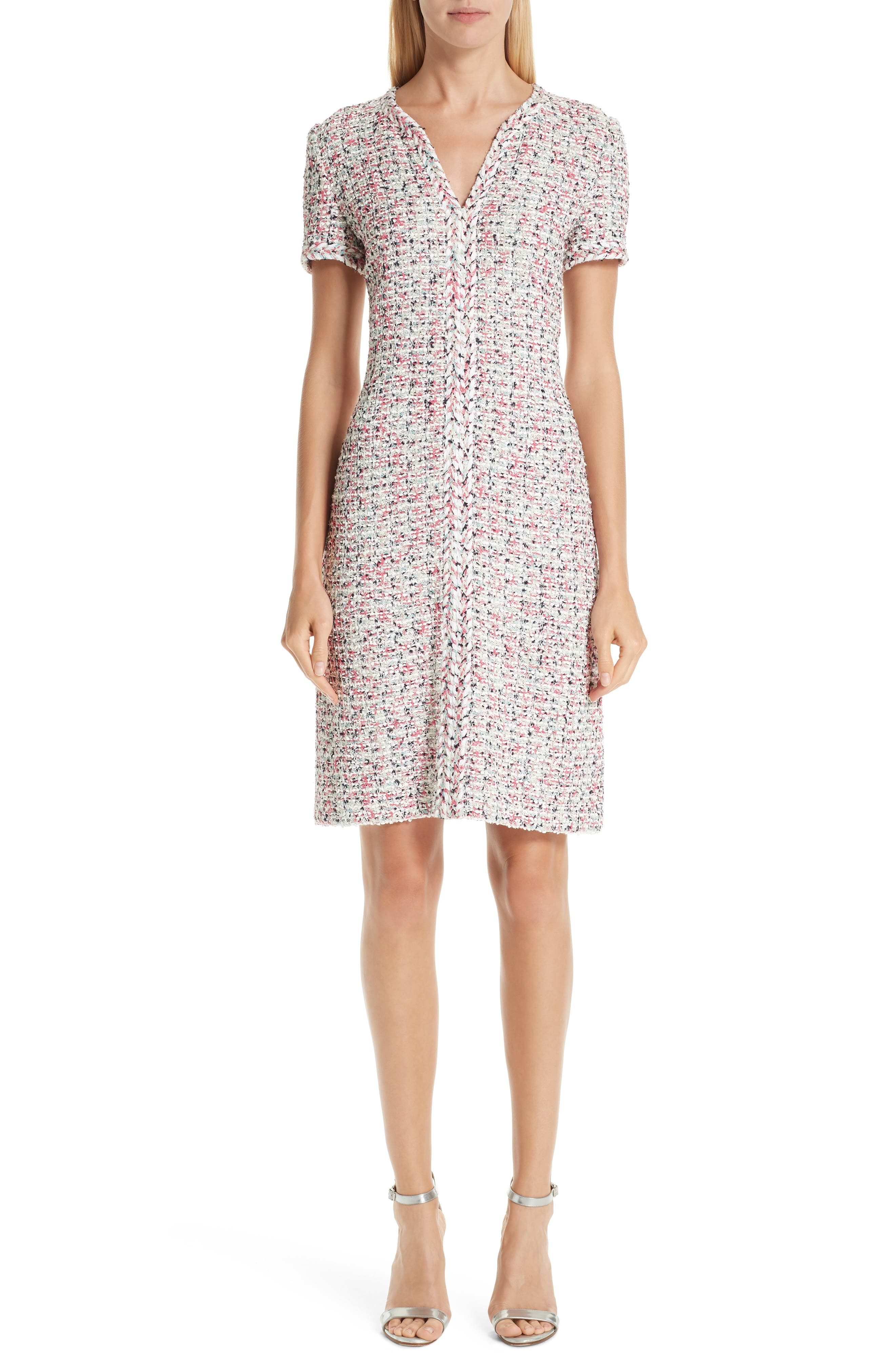 Modern Knit Dress, Main, color, CREAM MULTI
