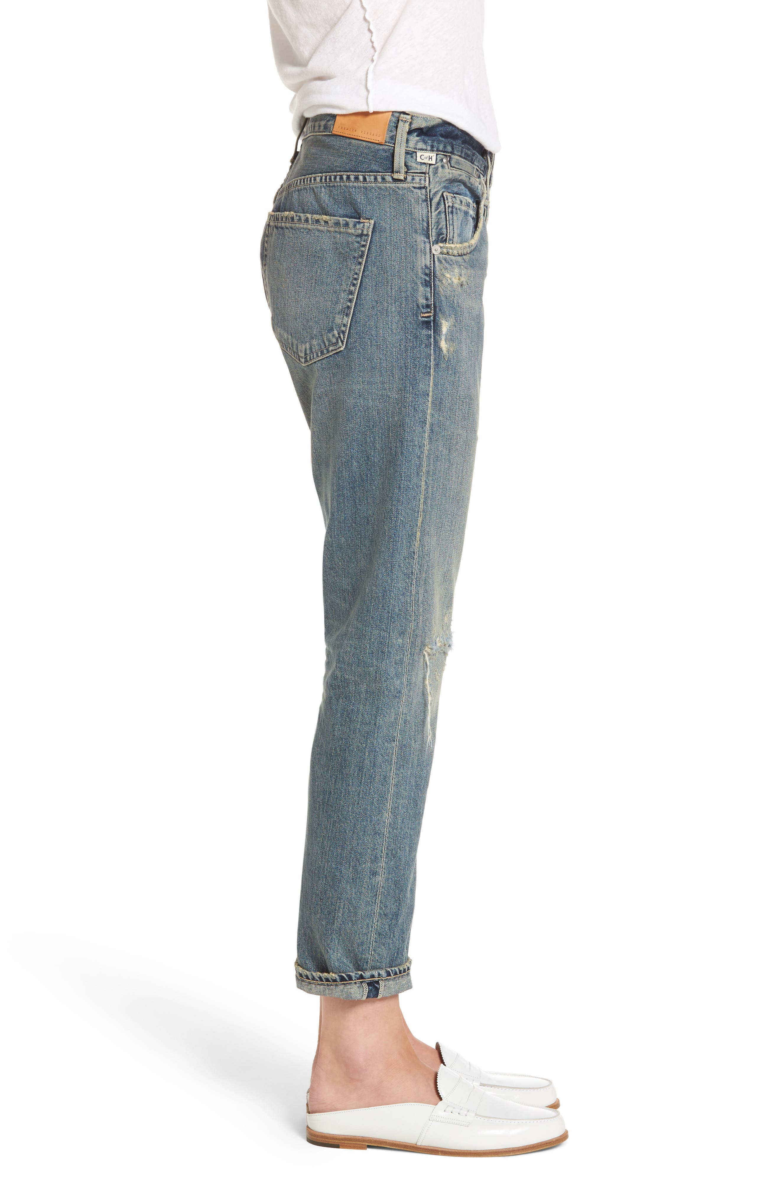 Emerson Ripped Slim Boyfriend Jeans,                             Alternate thumbnail 3, color,                             470