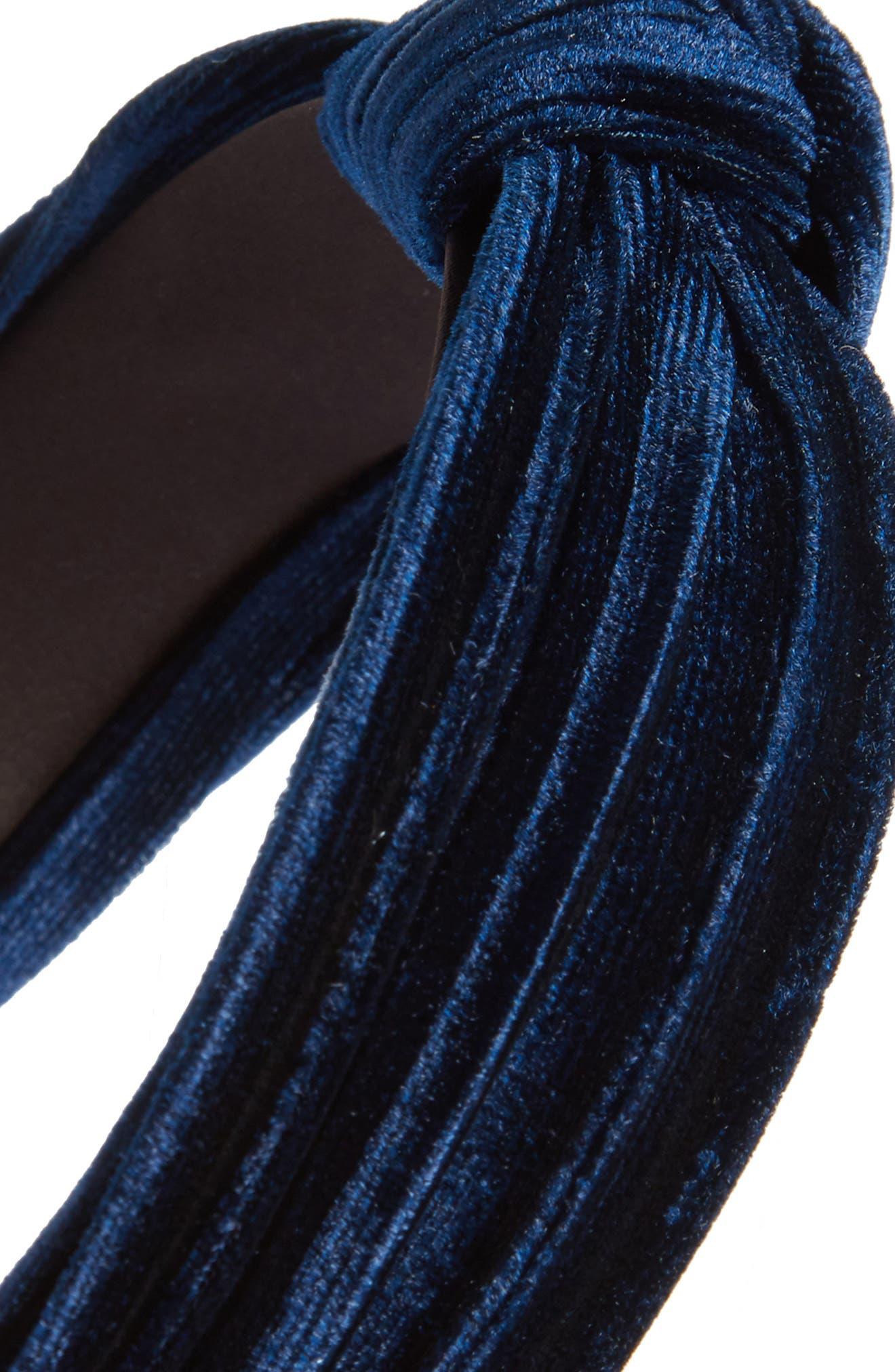 Velvet Knot Headband,                             Alternate thumbnail 6, color,