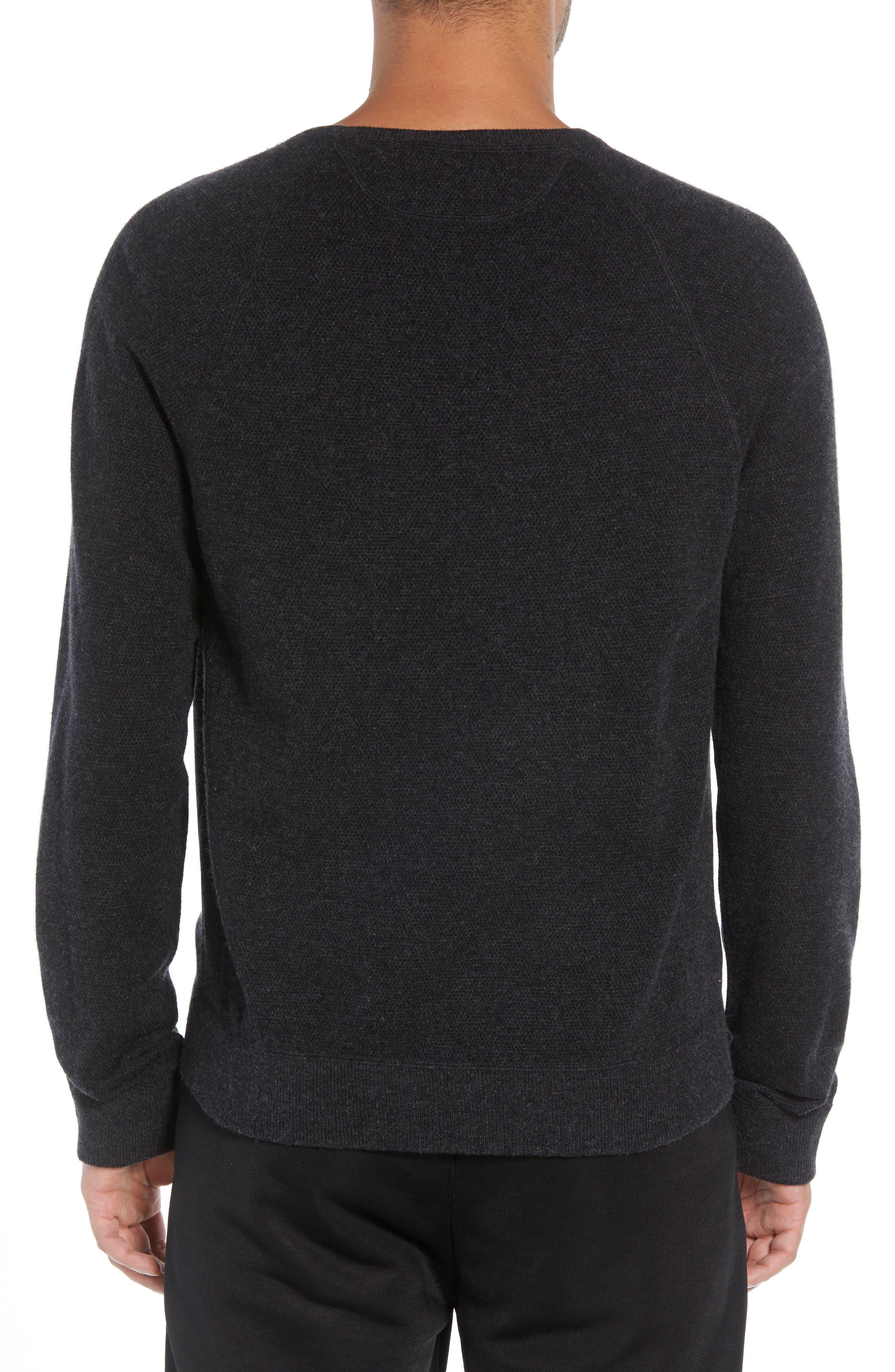 Bird's Eye Sweater,                             Alternate thumbnail 2, color,                             H CHARCOAL/ BLACK