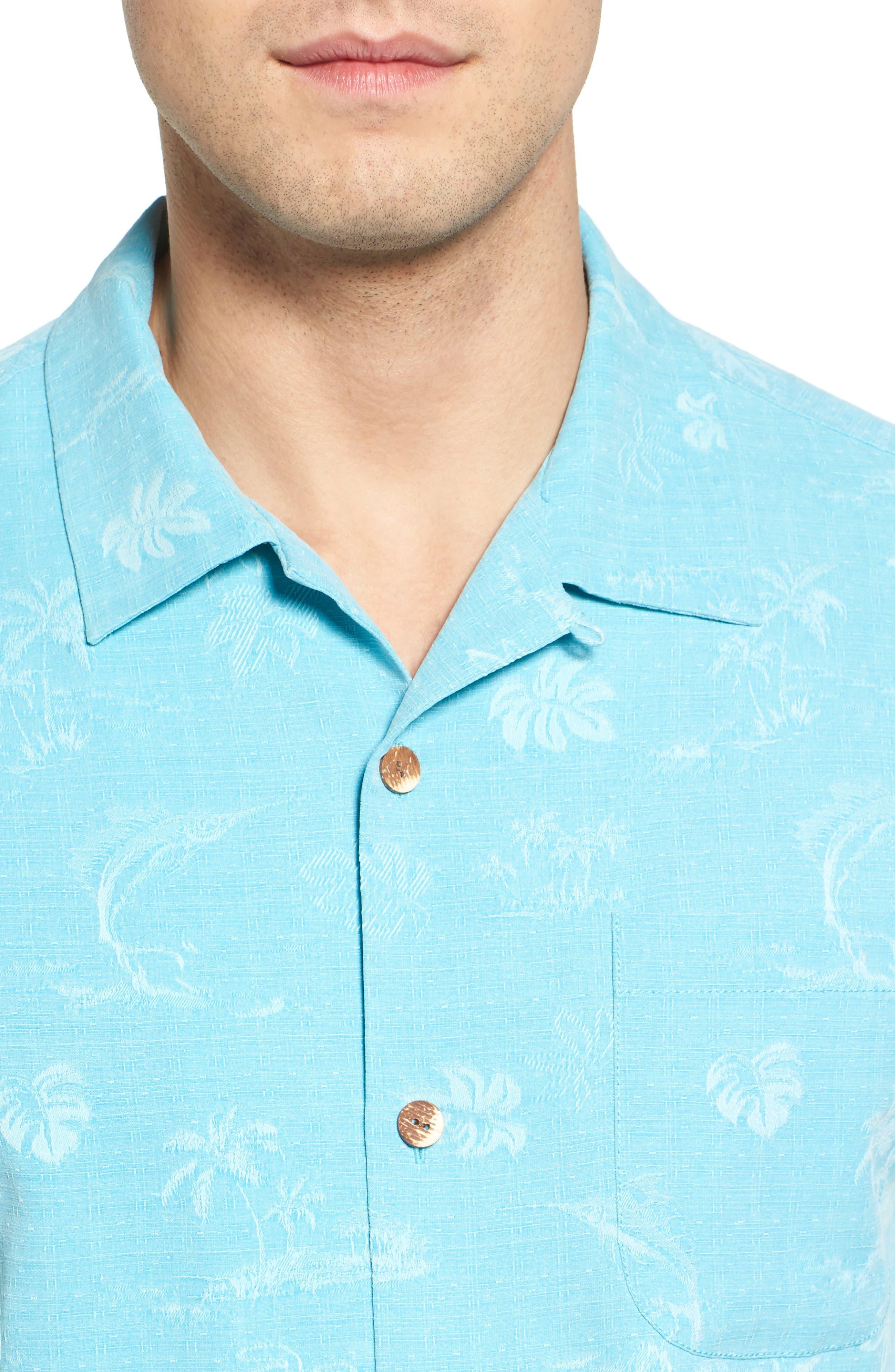 Gulf Shore Marlin Silk Camp Shirt,                             Alternate thumbnail 18, color,