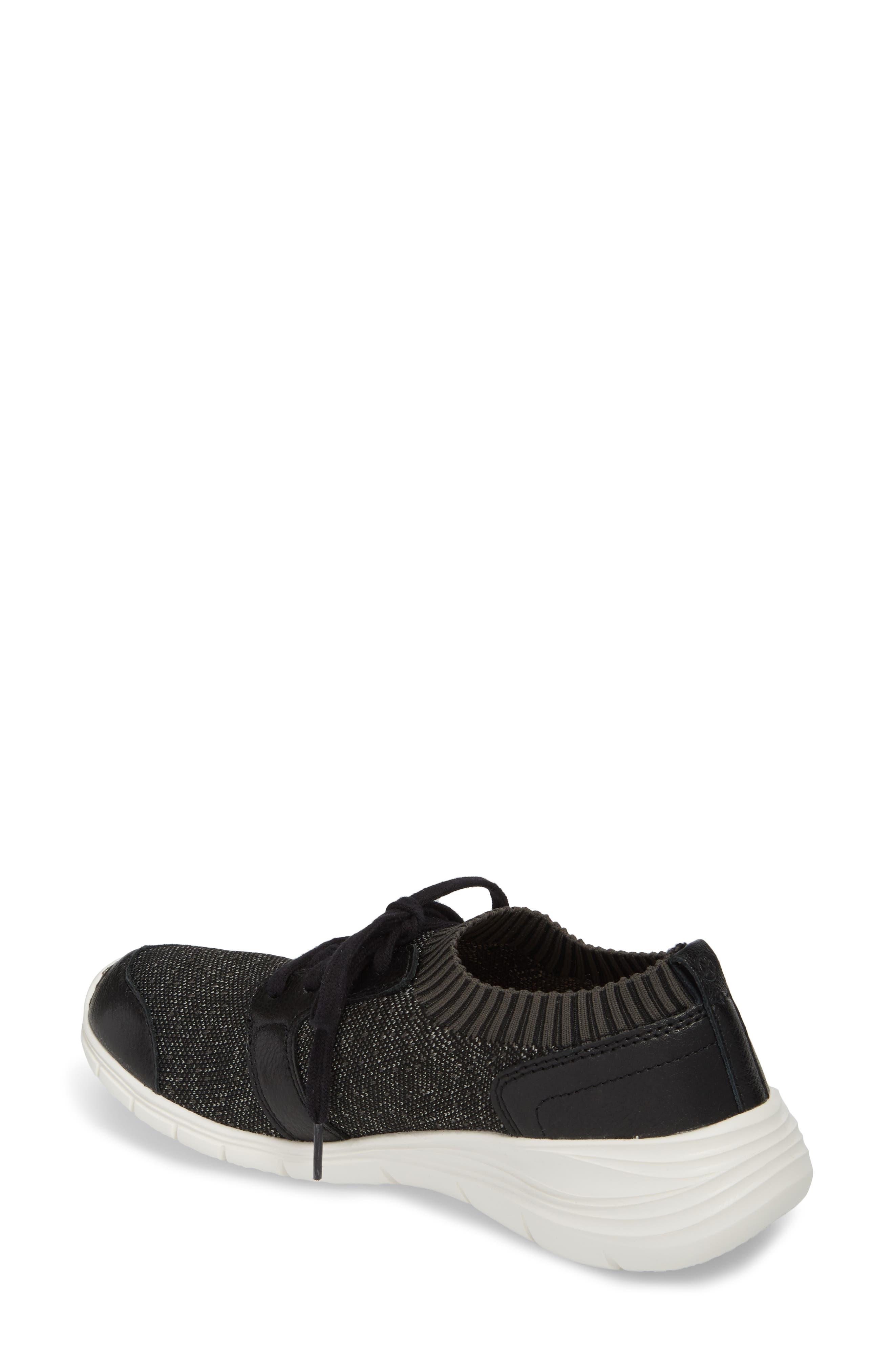 Cypress Knit Sneaker,                             Alternate thumbnail 2, color,                             BLACK FABRIC