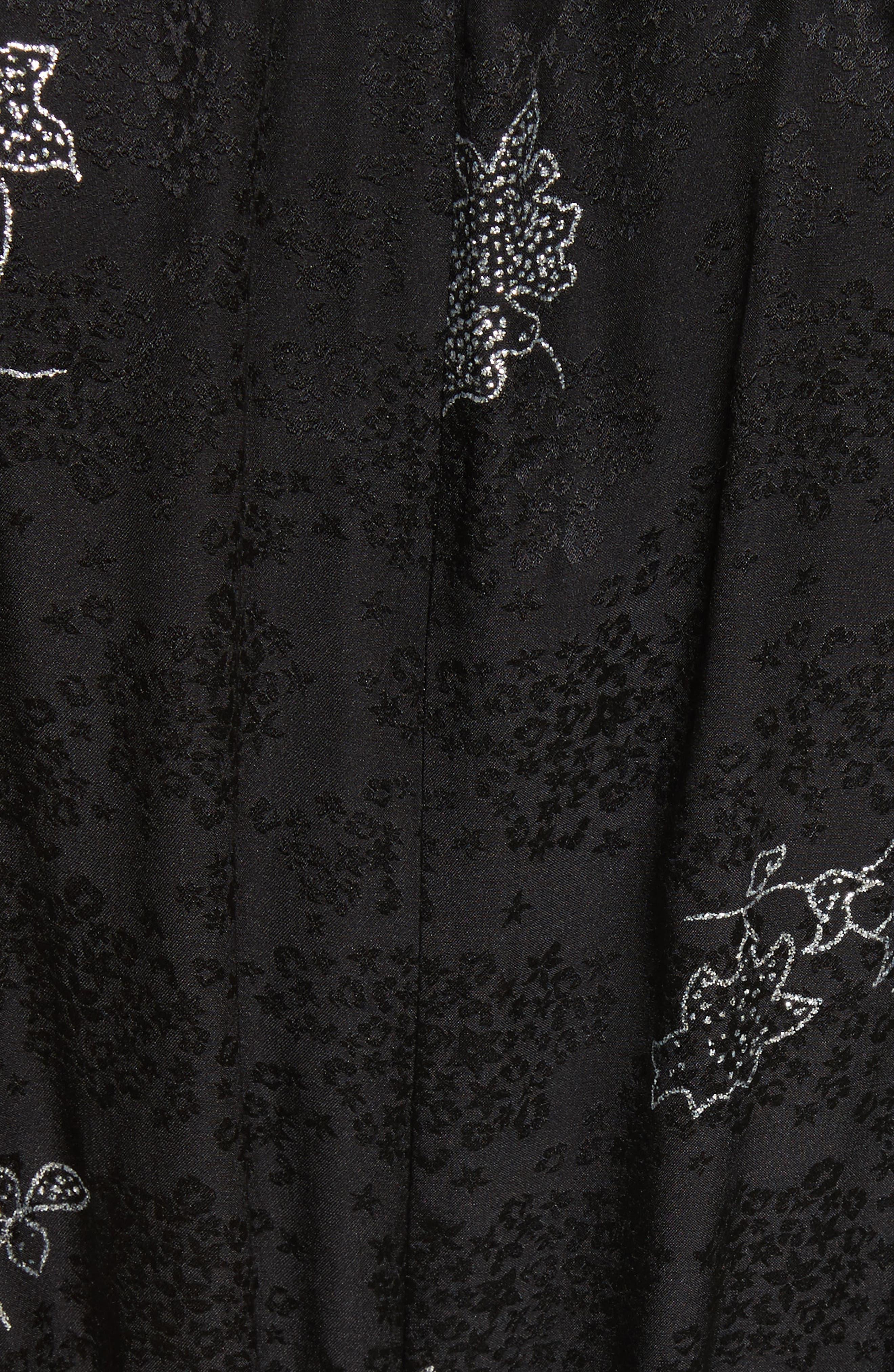 Glitter Jacquard Silk Dress,                             Alternate thumbnail 5, color,                             010
