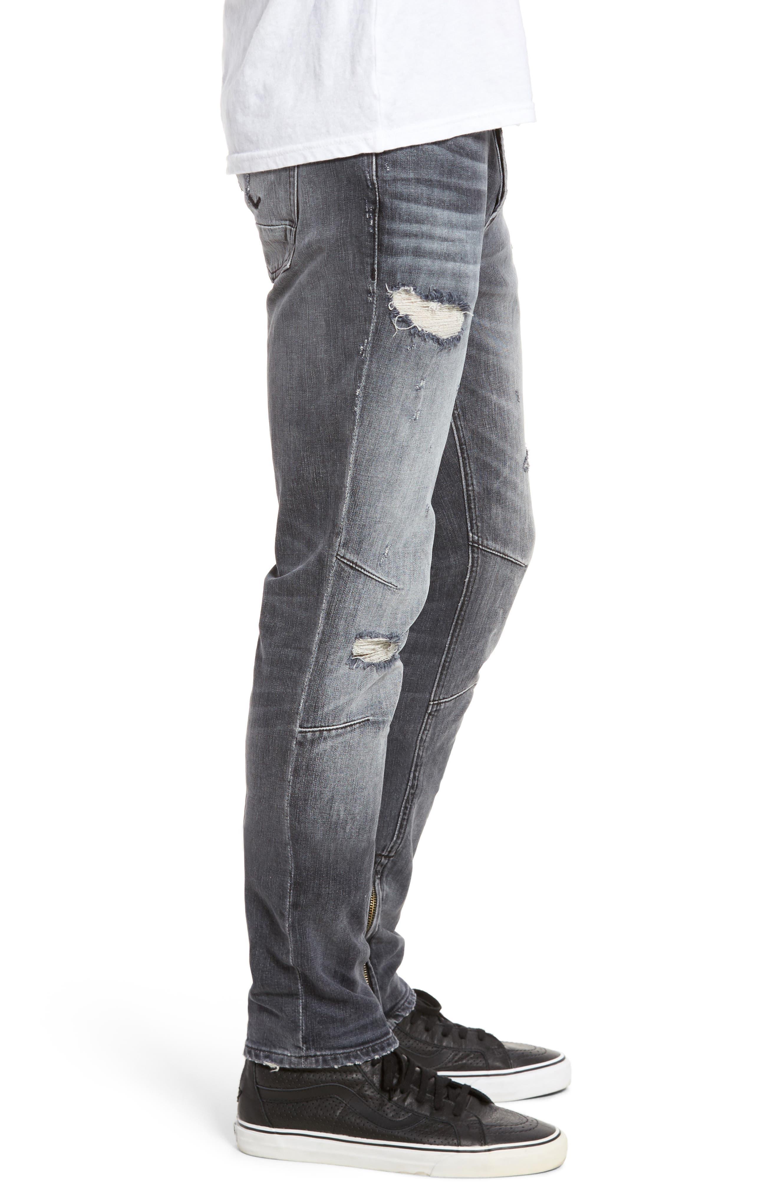 Vaughn Skinny Fit Jeans,                             Alternate thumbnail 3, color,                             VIOLATE
