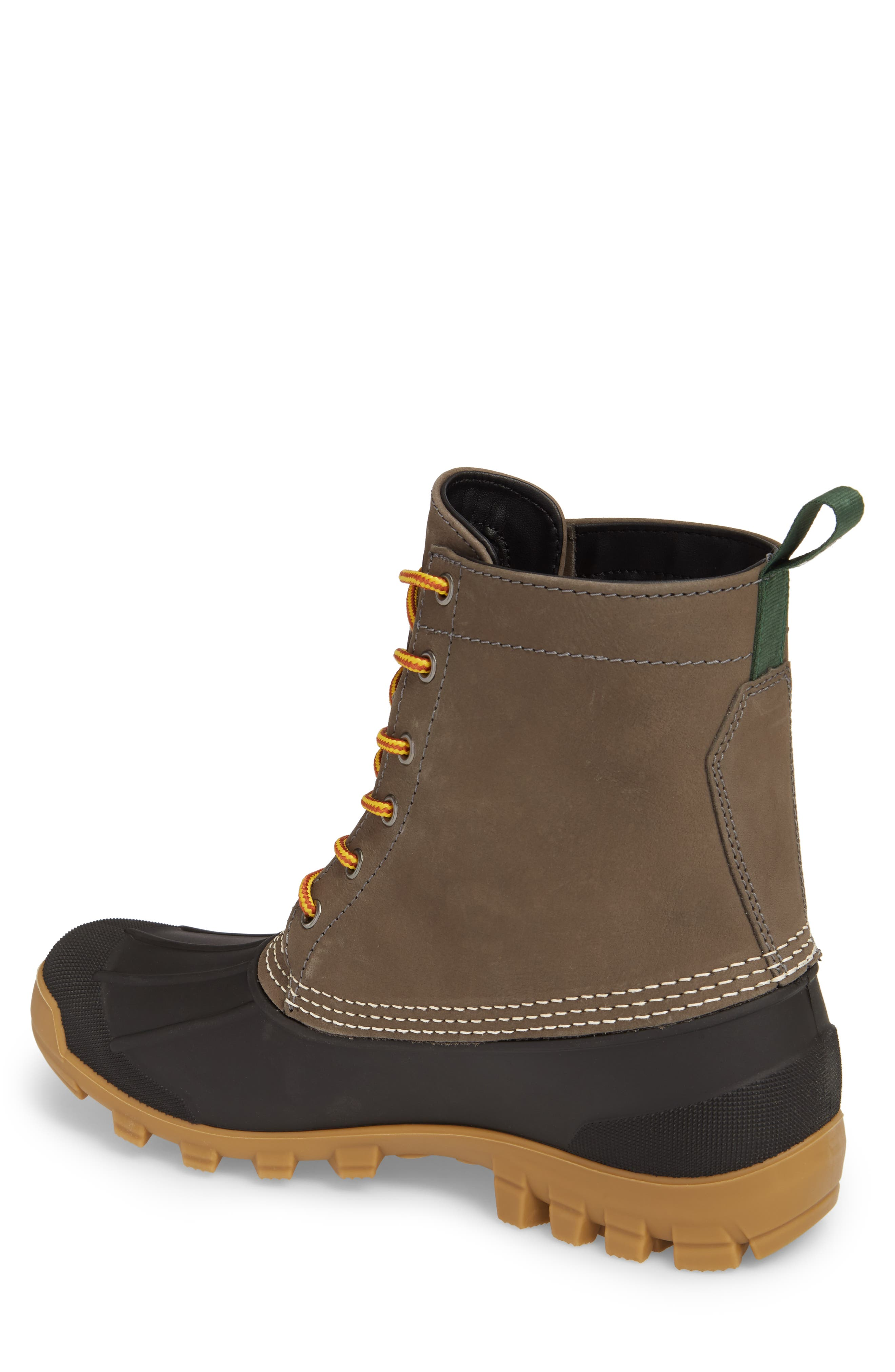 Yukon 6 Waterproof Insulated Three-Season Boot,                             Alternate thumbnail 2, color,                             CHARCOAL LEATHER