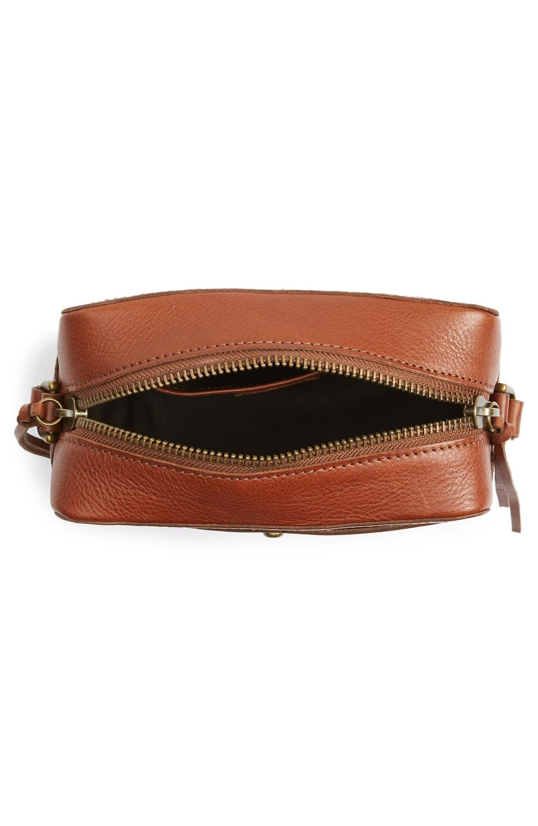 Leather Camera Bag,                             Alternate thumbnail 5, color,                             200