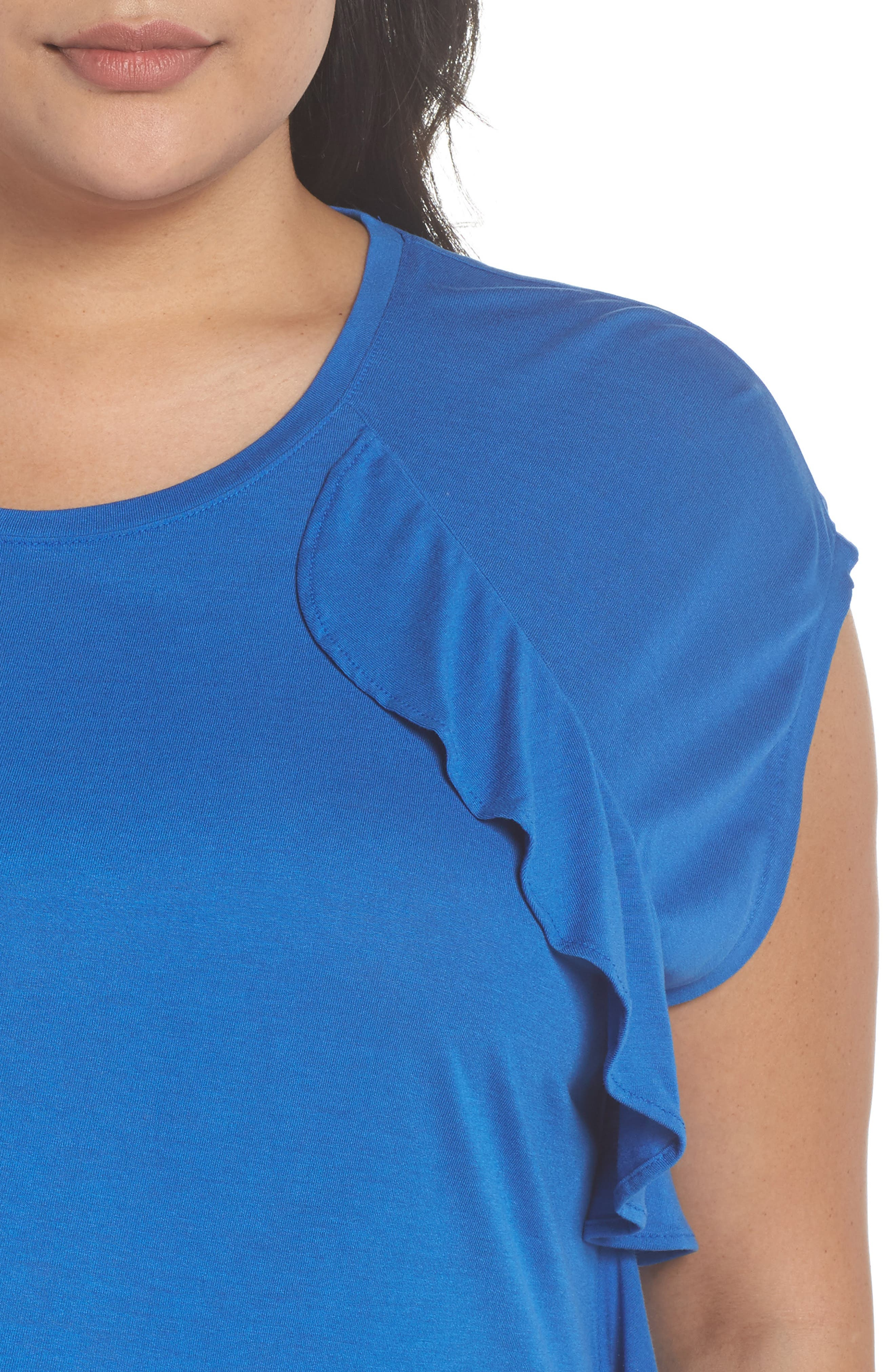 Ruffle Detail Top,                             Alternate thumbnail 16, color,