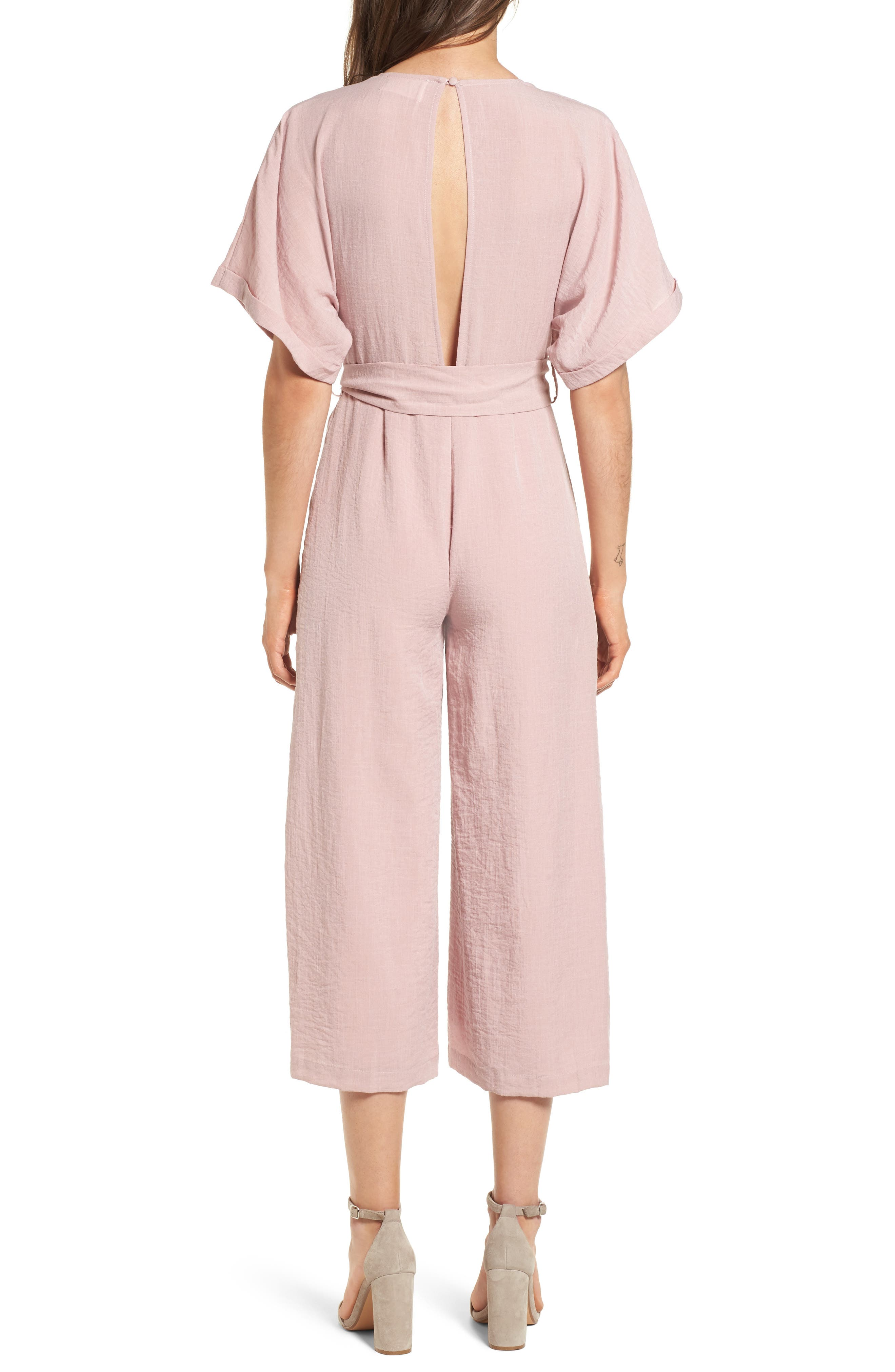 Peony Tie Waist Jumpsuit,                             Alternate thumbnail 2, color,                             681