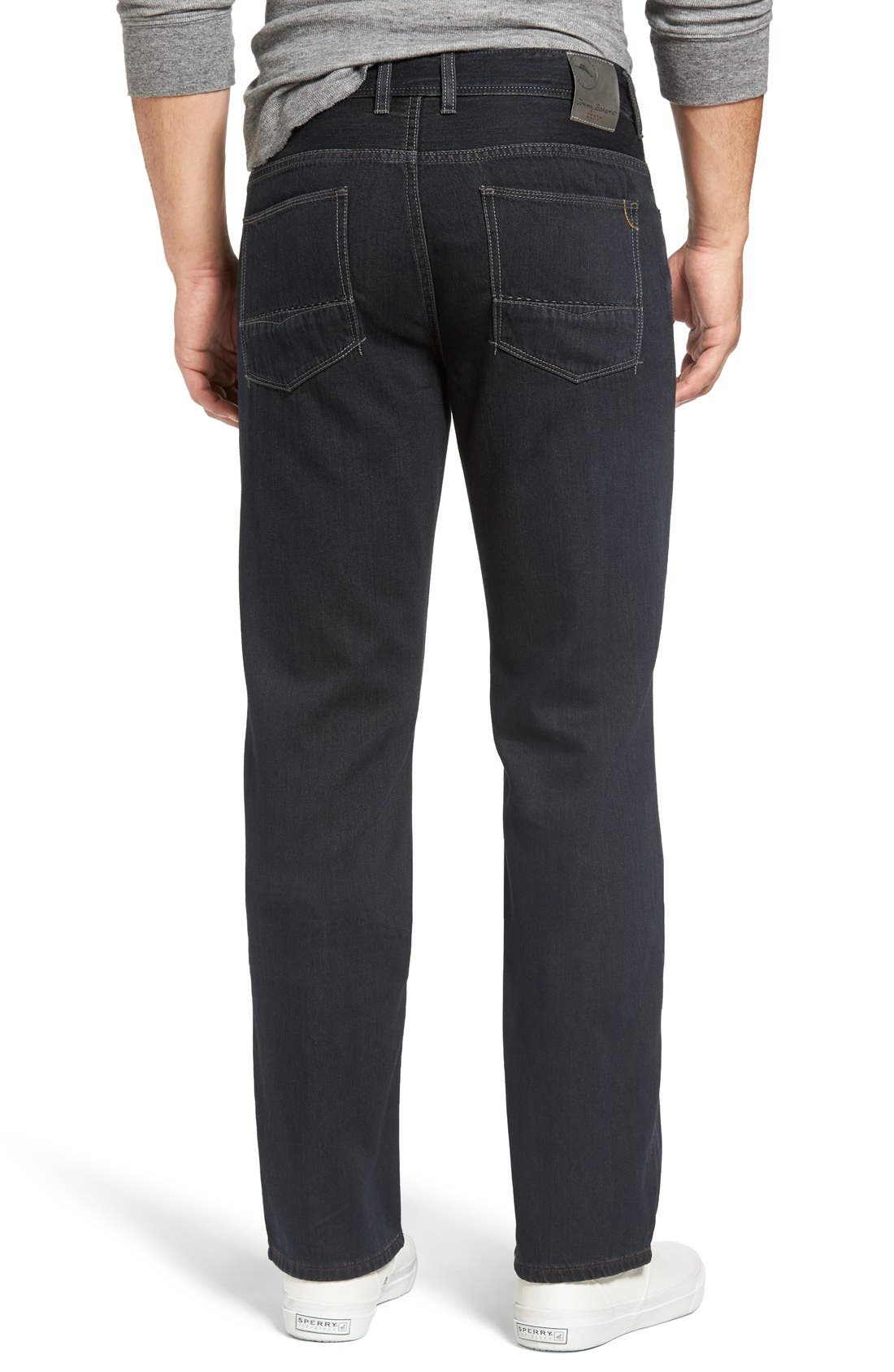 Cayman Relaxed Fit Straight Leg Jeans,                             Alternate thumbnail 5, color,                             BLACK OVERDYE