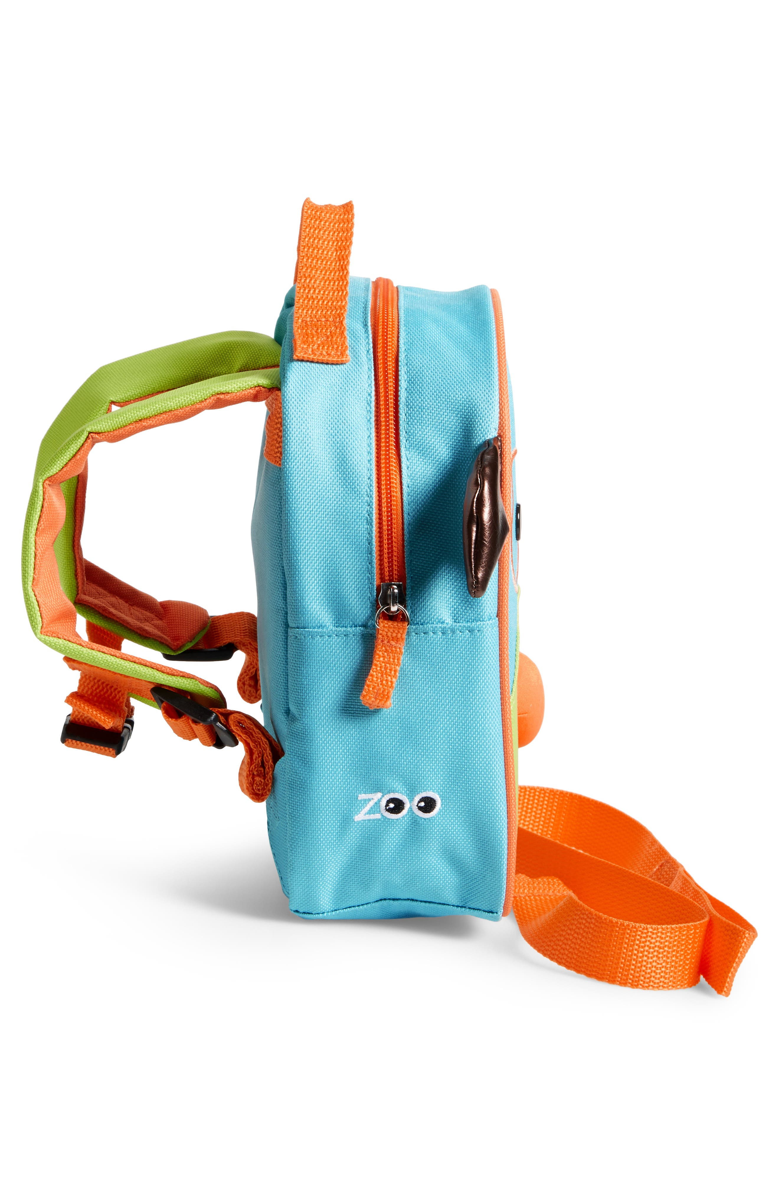 'Zoo' Safety Harness Backpack,                             Alternate thumbnail 4, color,                             DOG
