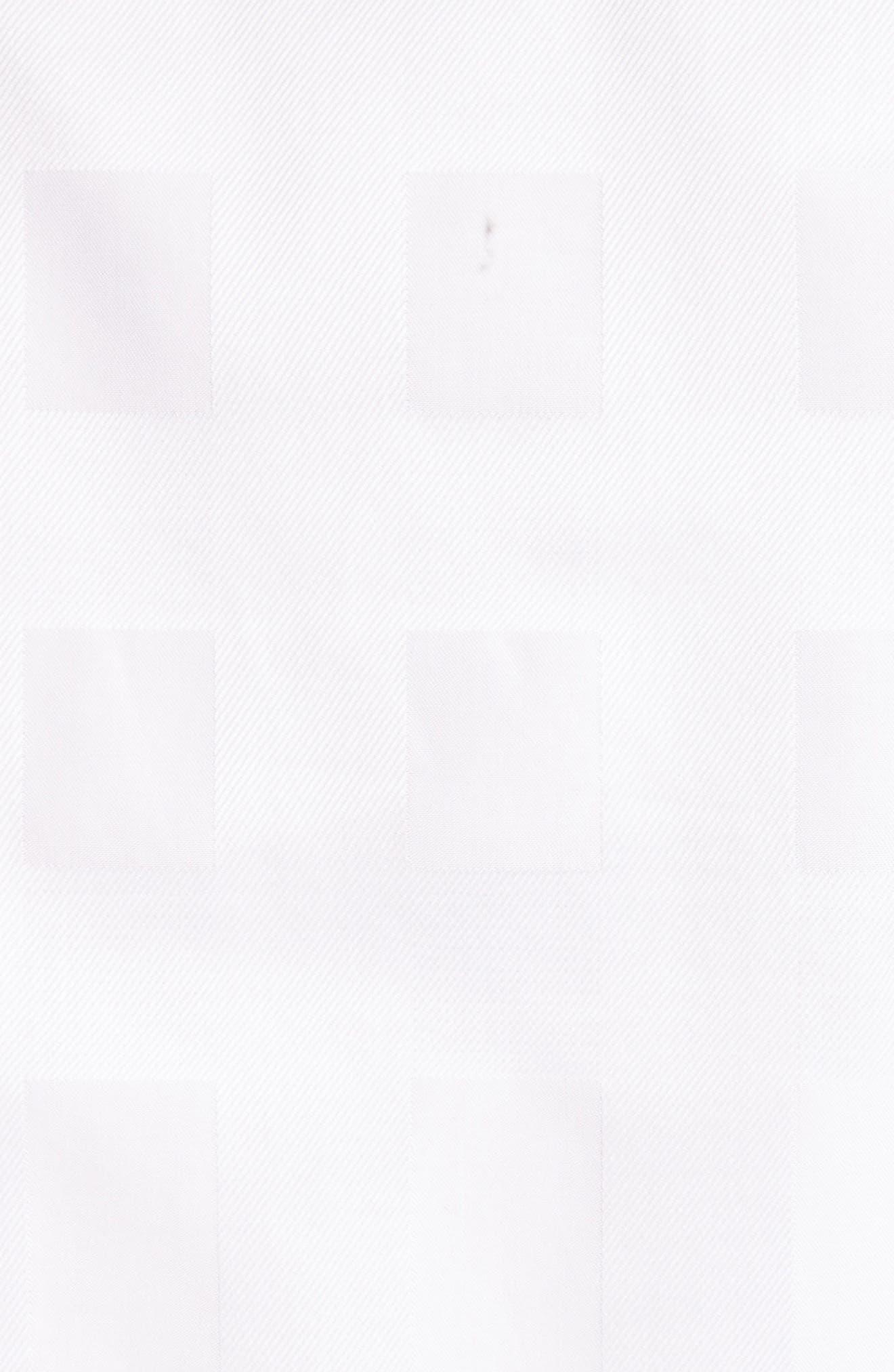 Aster Check Cotton Shirt,                             Alternate thumbnail 5, color,                             100