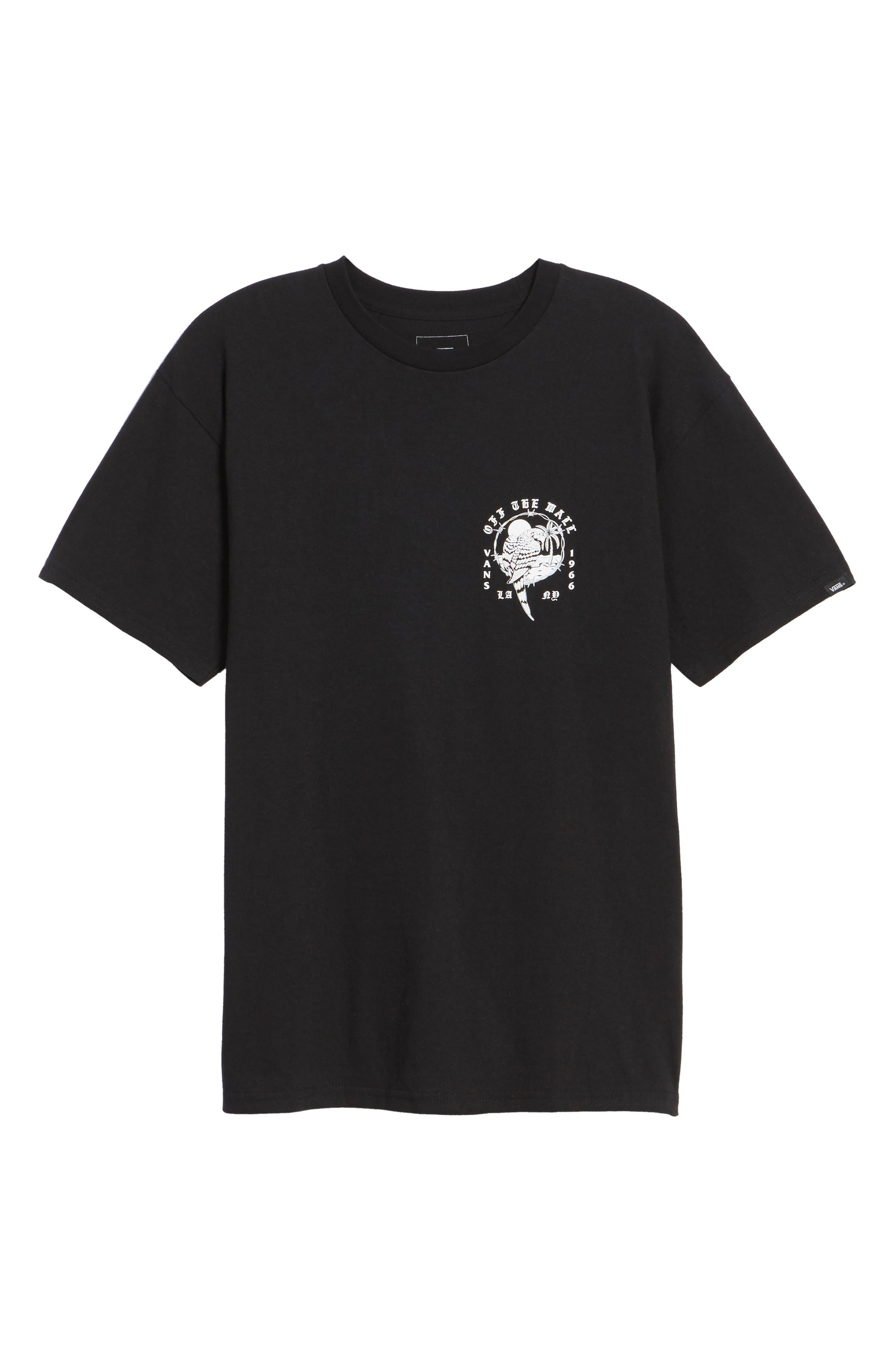 Parrot Beach Graphic T-Shirt,                             Alternate thumbnail 6, color,                             001