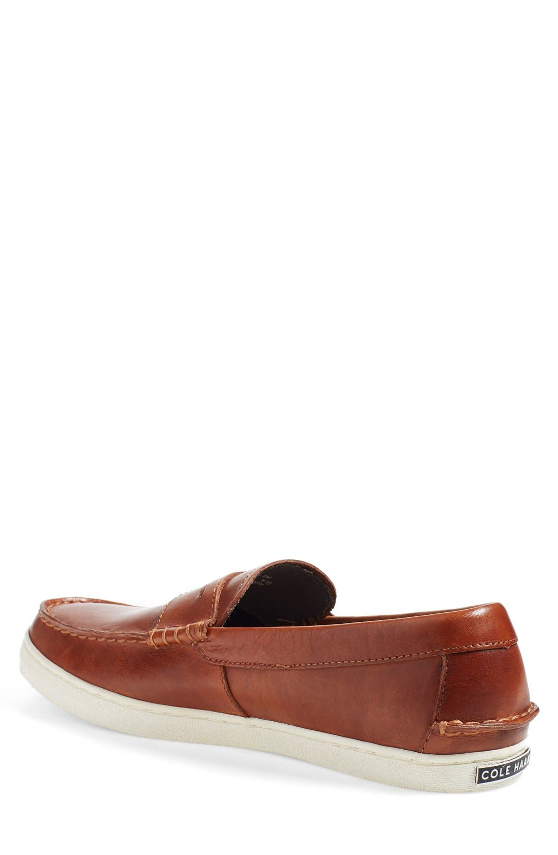 'Pinch' Penny Loafer,                             Alternate thumbnail 2, color,                             BRITISH TAN ANTIQUE LEATHER