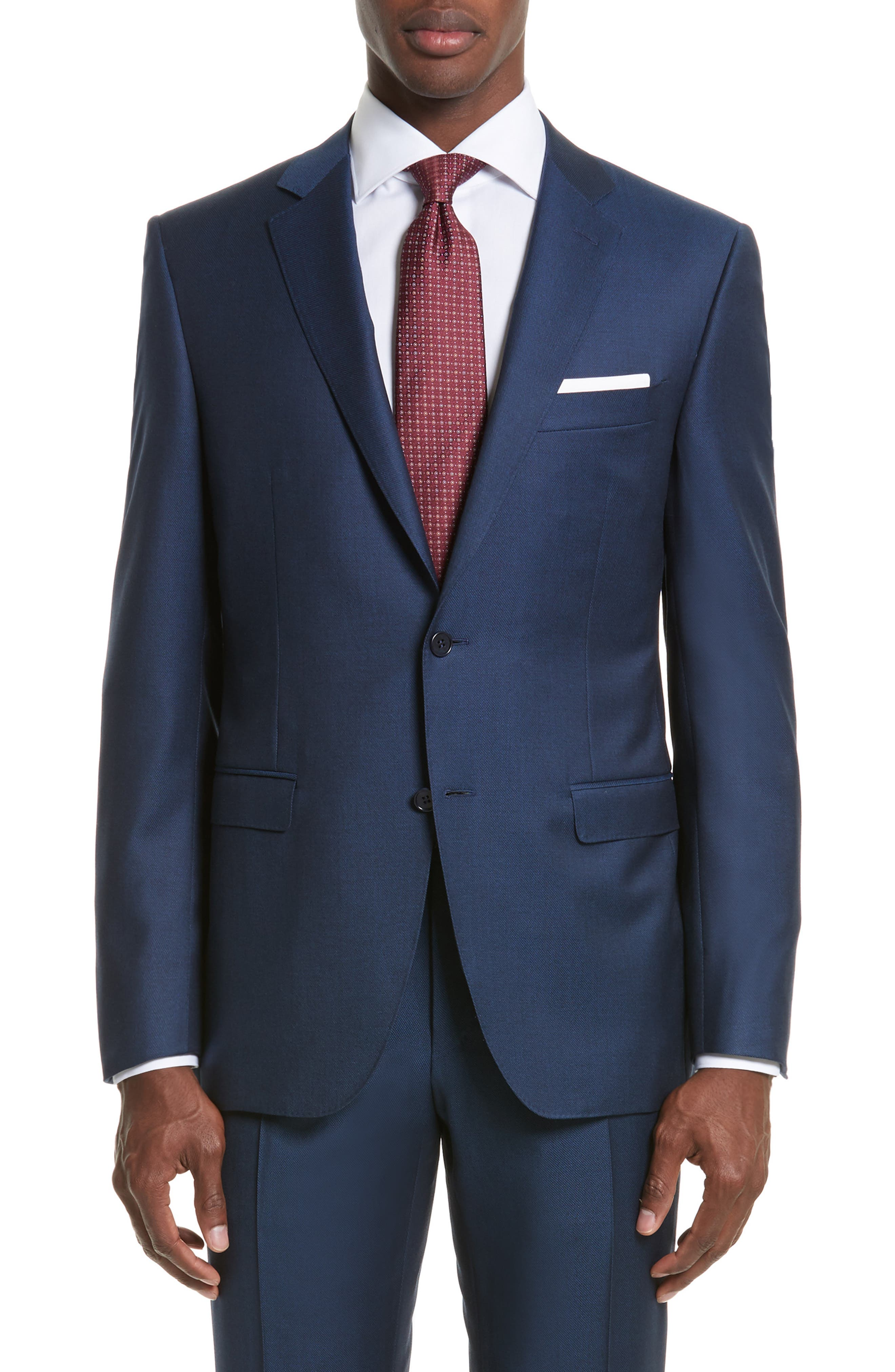 Classic Fit Solid Wool Suit,                             Alternate thumbnail 5, color,                             400