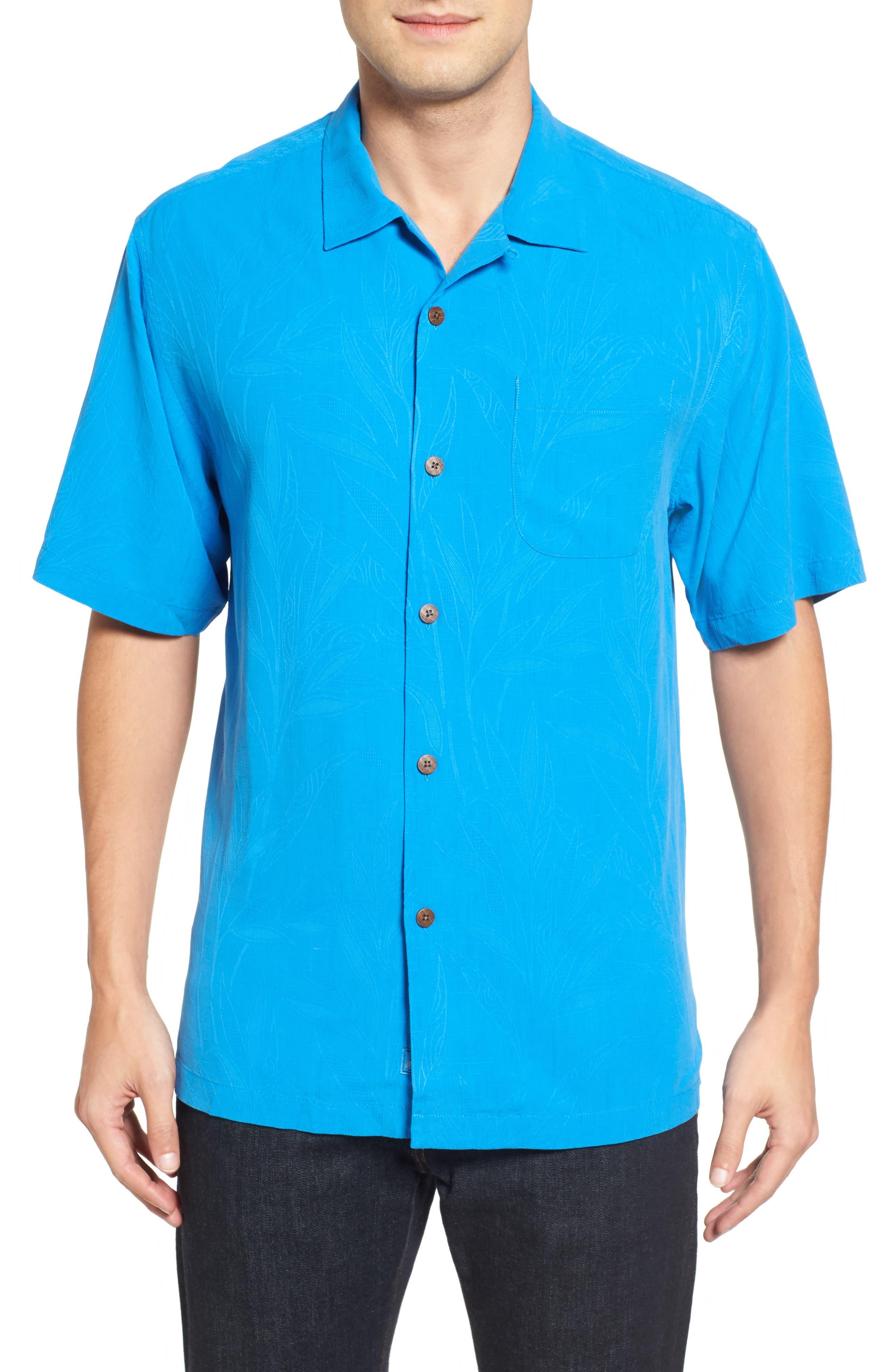 Islander Fronds Silk Camp Shirt,                             Main thumbnail 5, color,