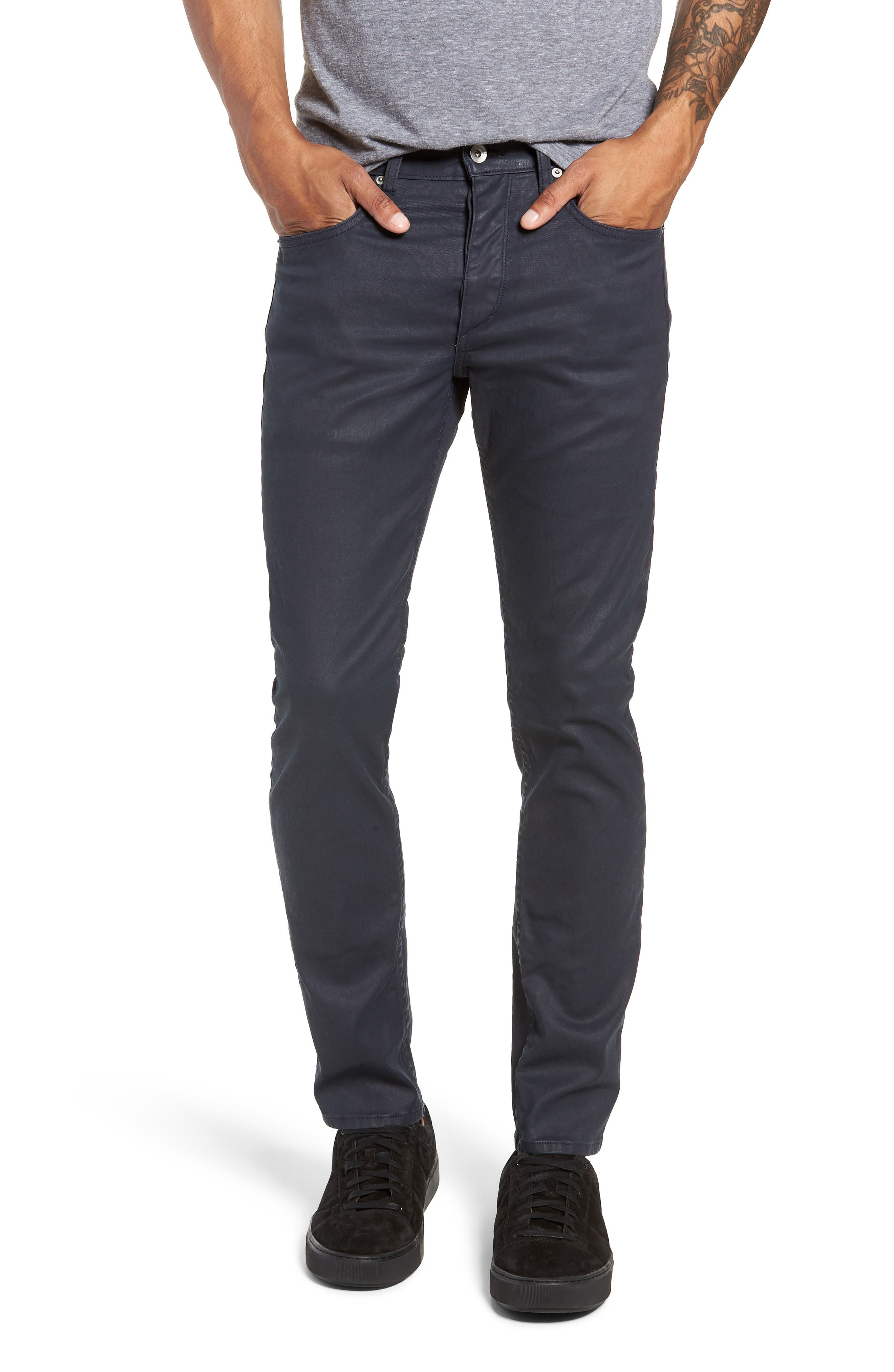 Fit 2 Slim Fit Coated Twill Pants,                         Main,                         color, COATED BLUE
