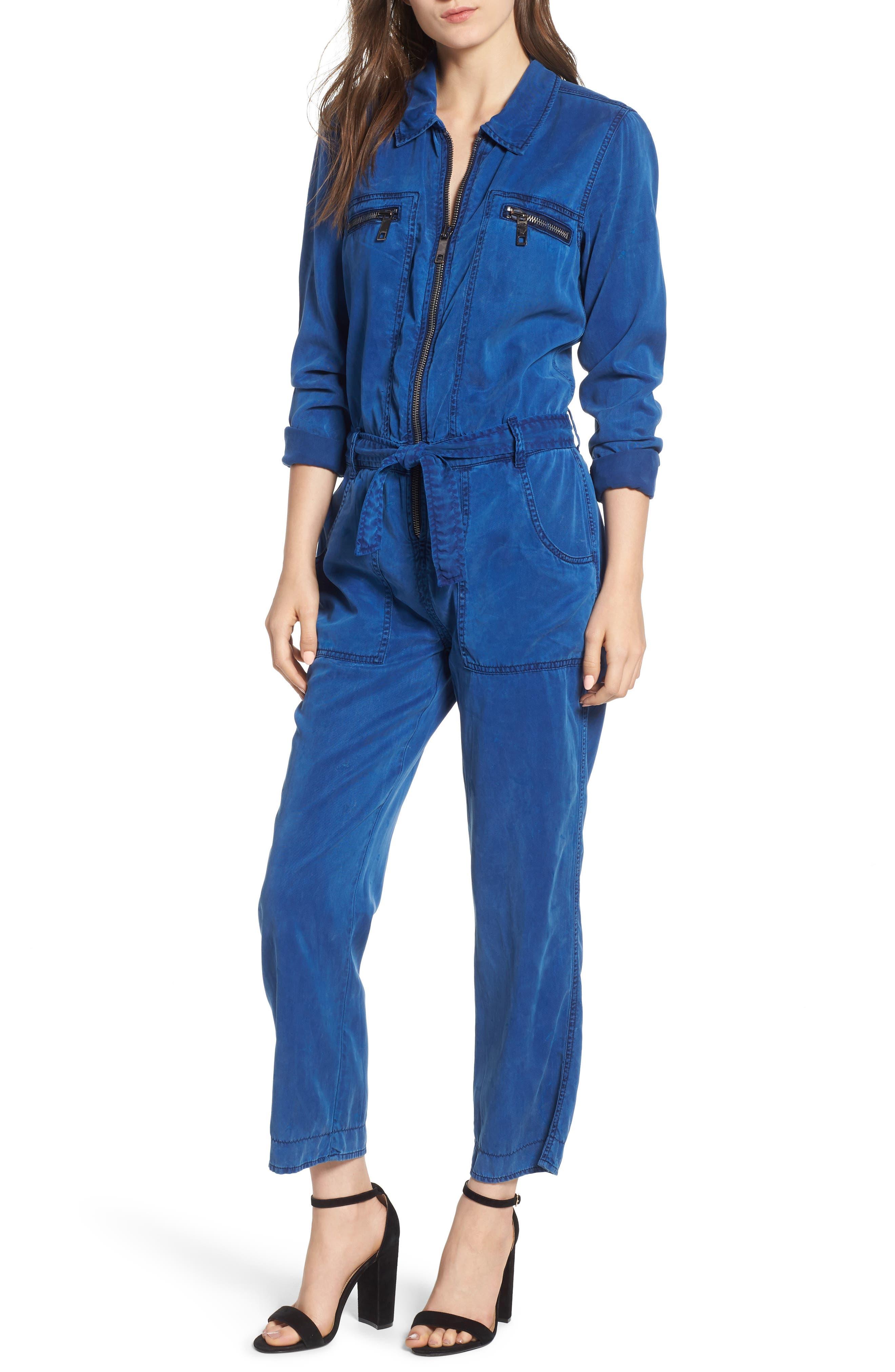HUDSON JEANS Utility Denim Jumpsuit, Main, color, ALBURY