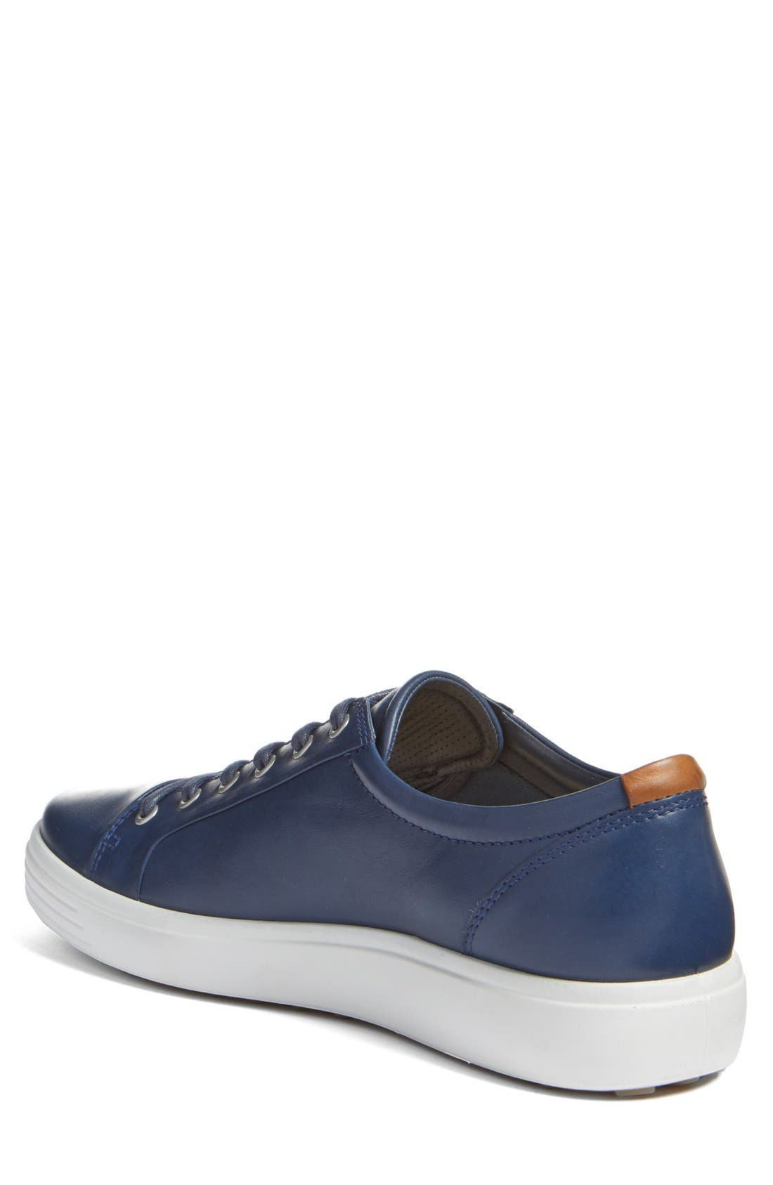 Soft VII Lace-Up Sneaker,                             Alternate thumbnail 3, color,                             NAVY LEATHER