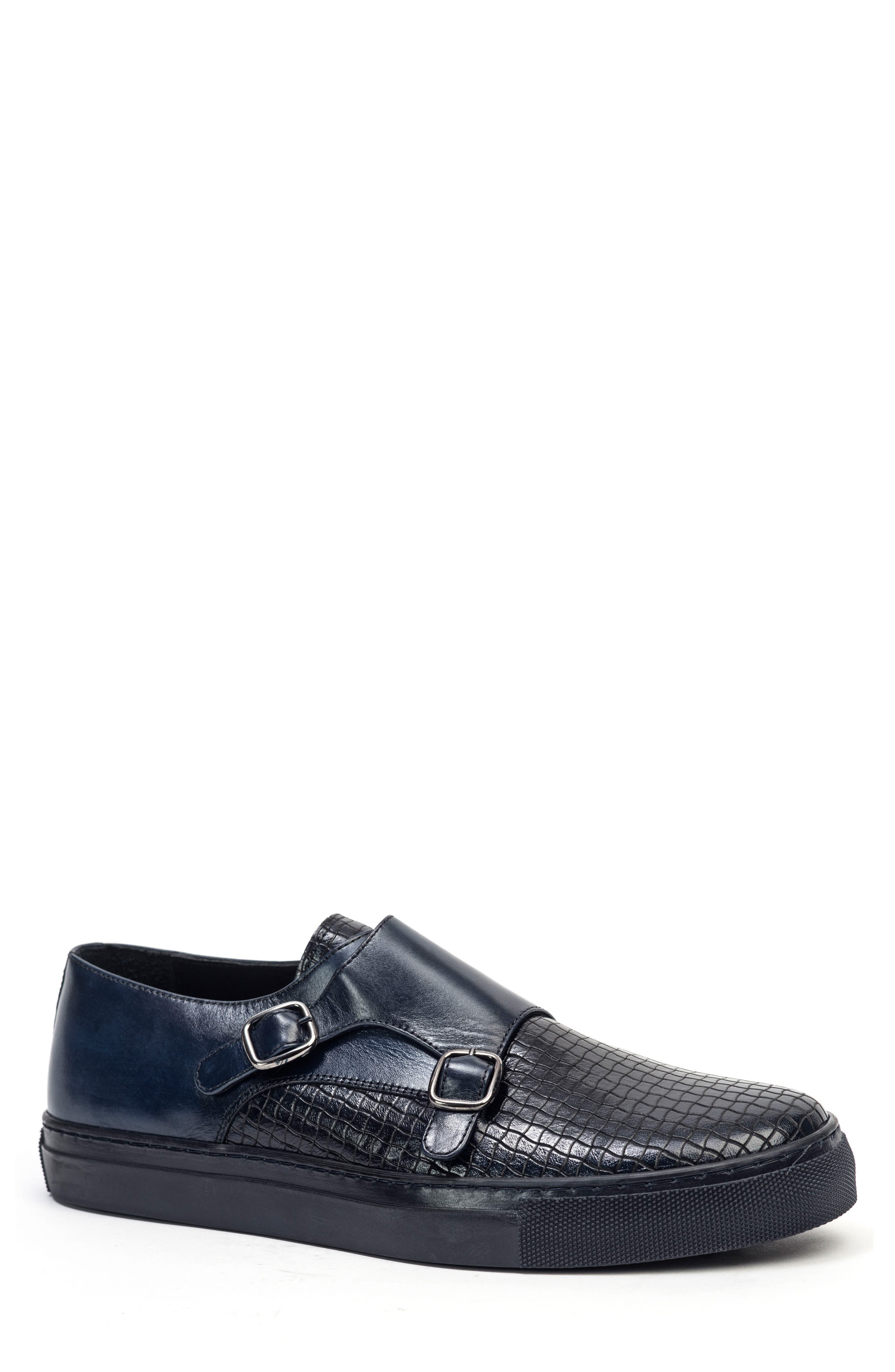 Embossed Monk Strap Sneaker,                             Main thumbnail 2, color,