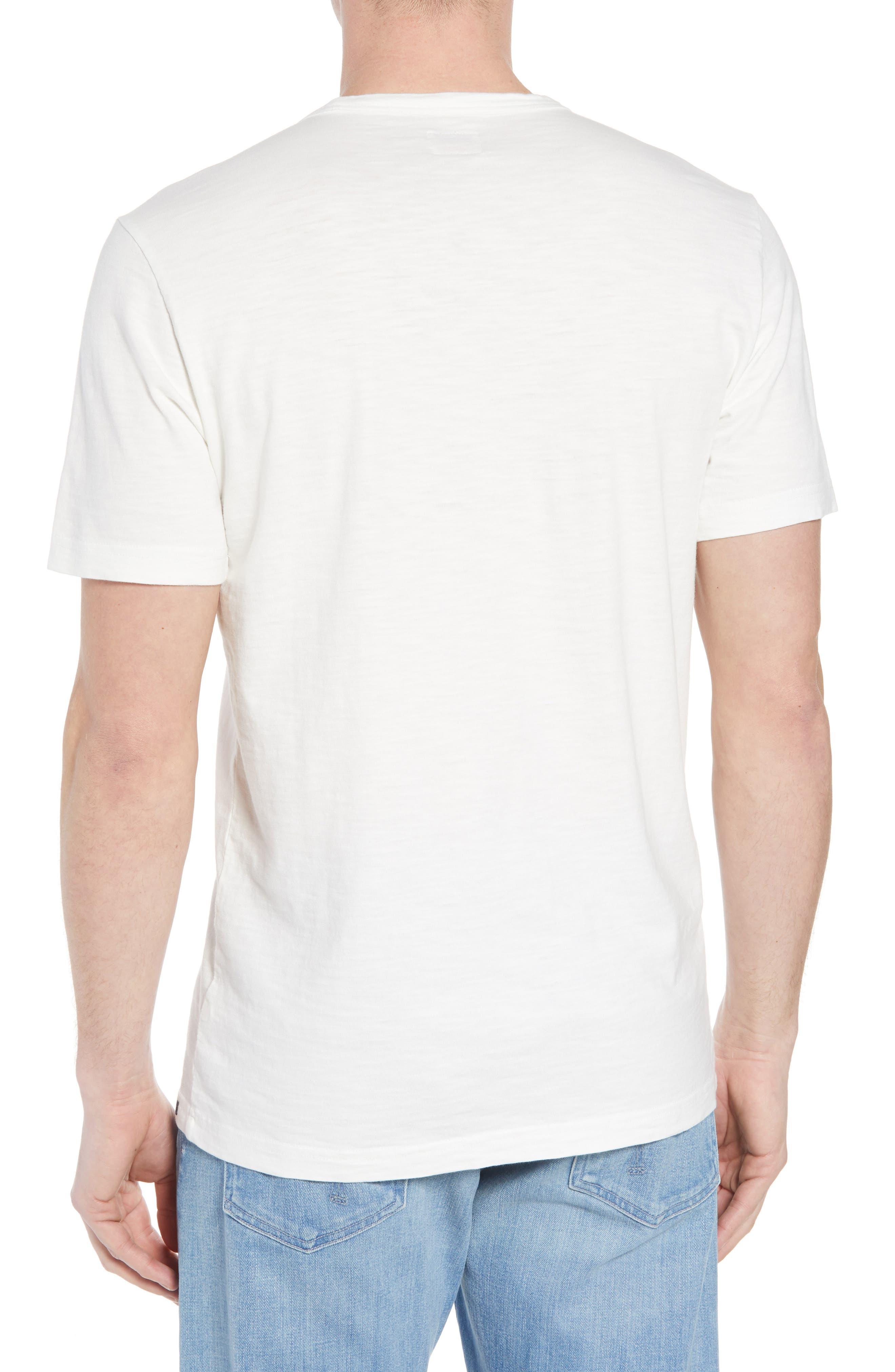 Surf Stripe Pocket T-Shirt,                             Alternate thumbnail 2, color,                             WHITE SURF STRIPE