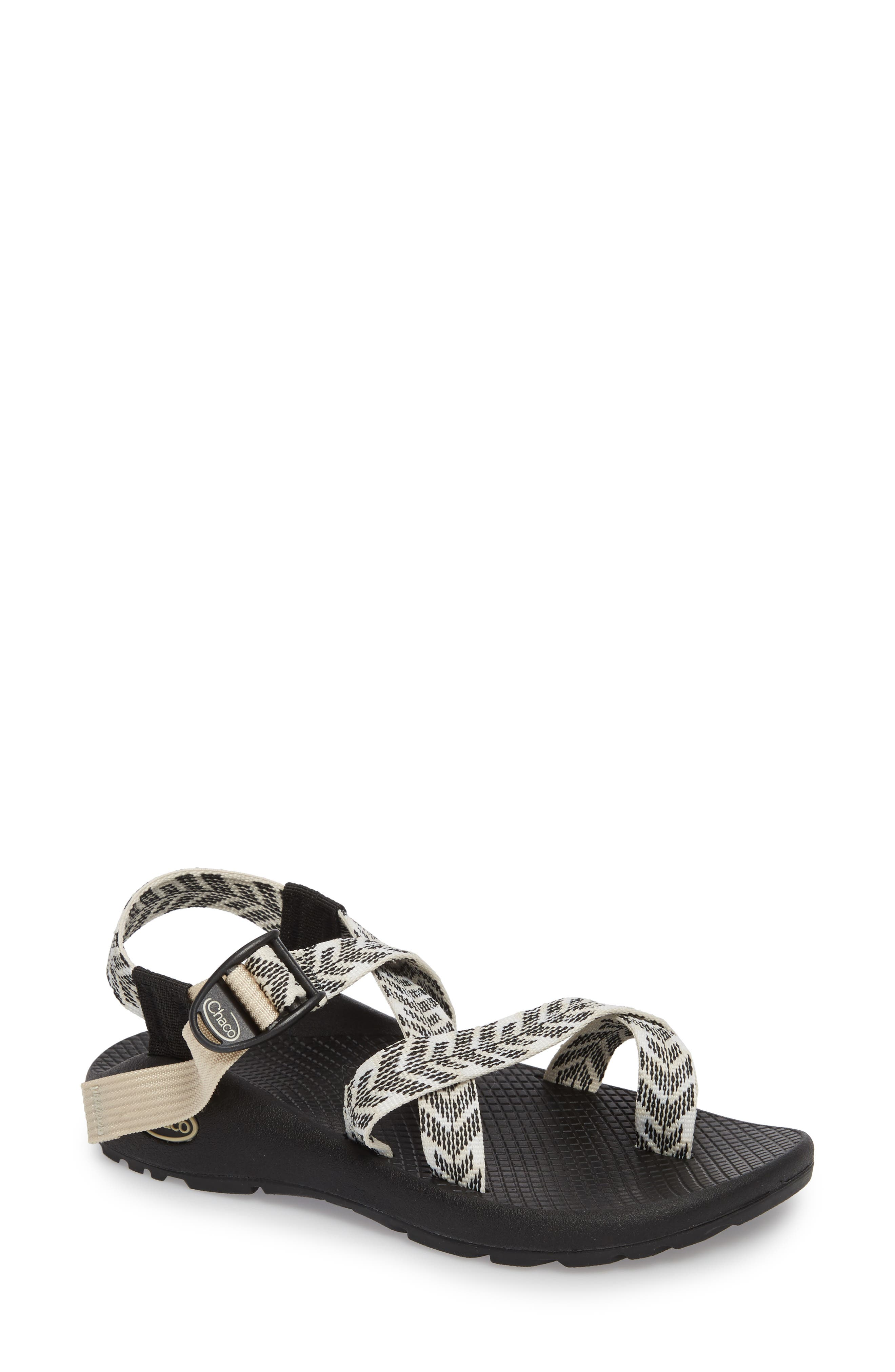 Z/2 Classic Sport Sandal,                             Main thumbnail 1, color,                             TRINE BLACK / WHITE