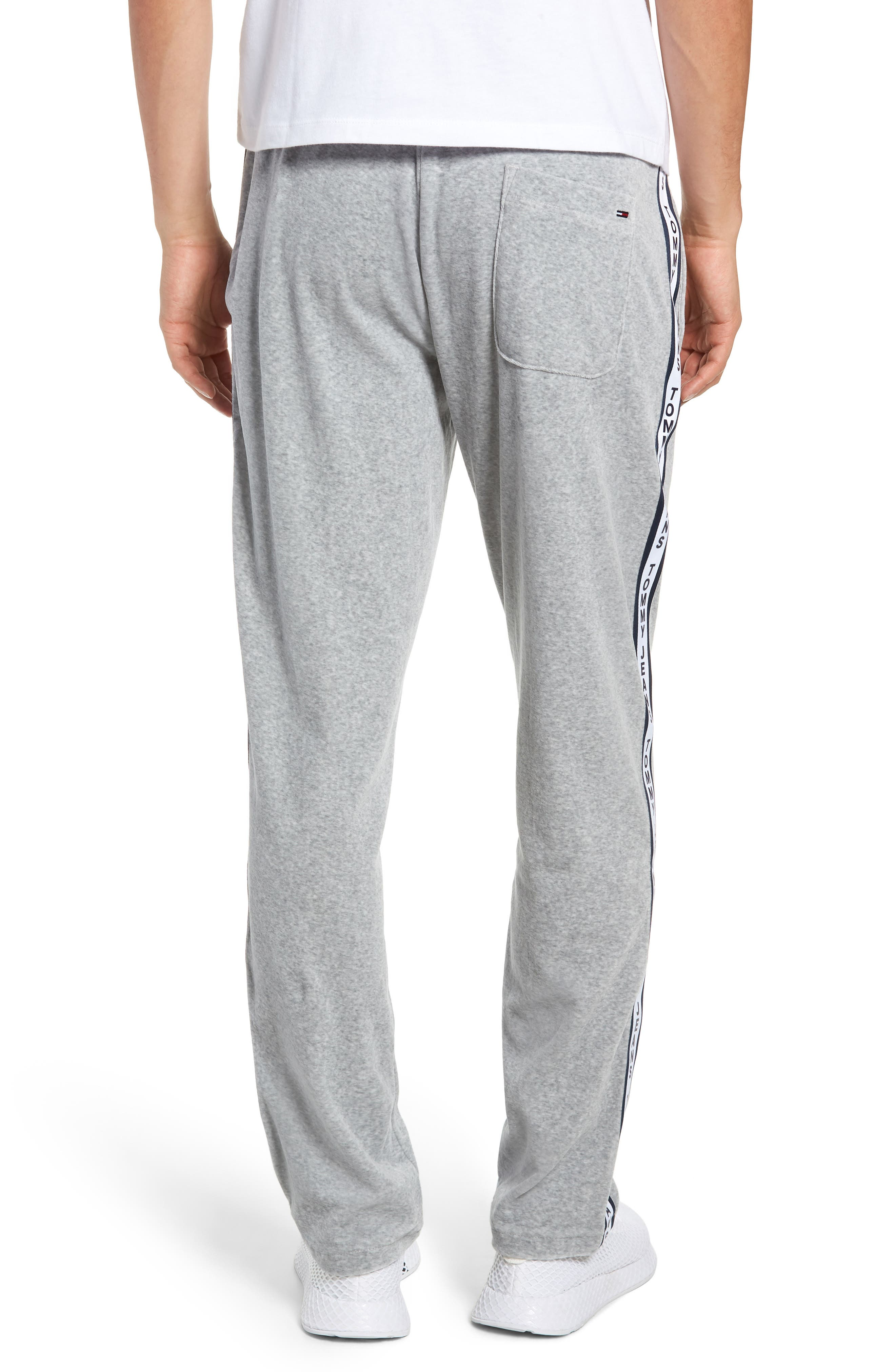 Relaxed Fit Velour Sweatpants,                             Alternate thumbnail 2, color,                             LIGHT GREY HEATHER