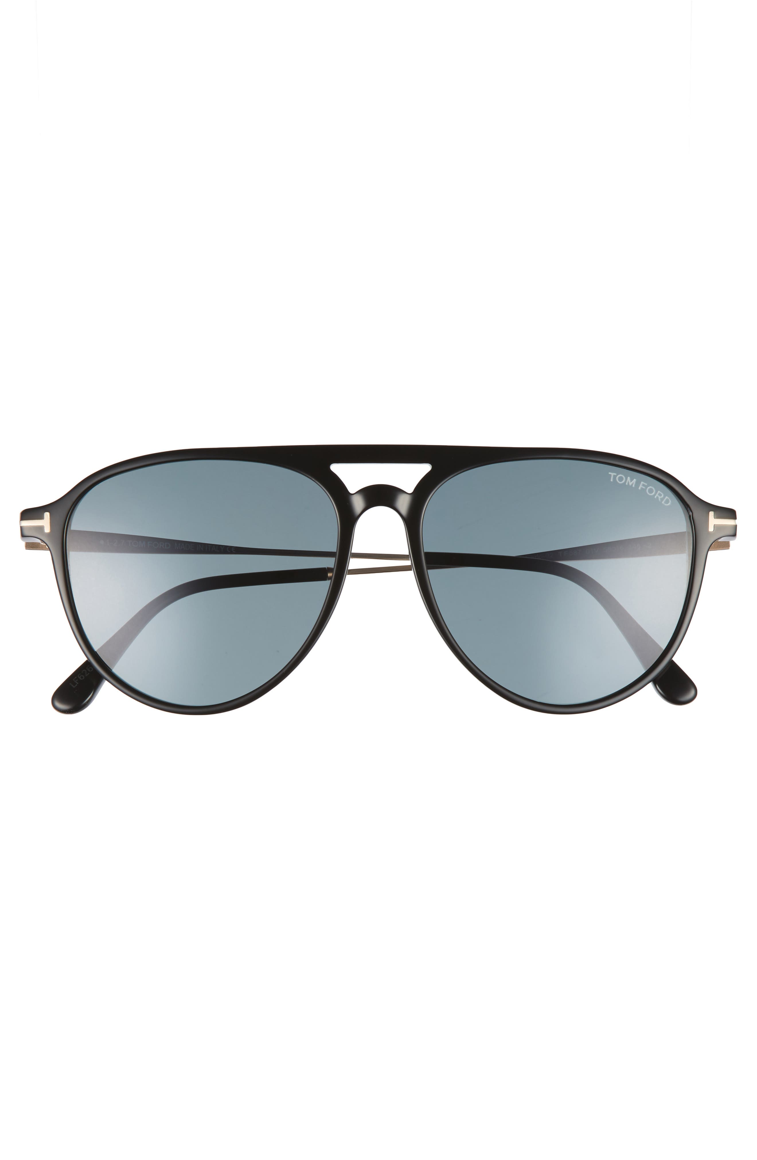 Carlo 59mm Aviator Sunglasses,                             Alternate thumbnail 2, color,                             001