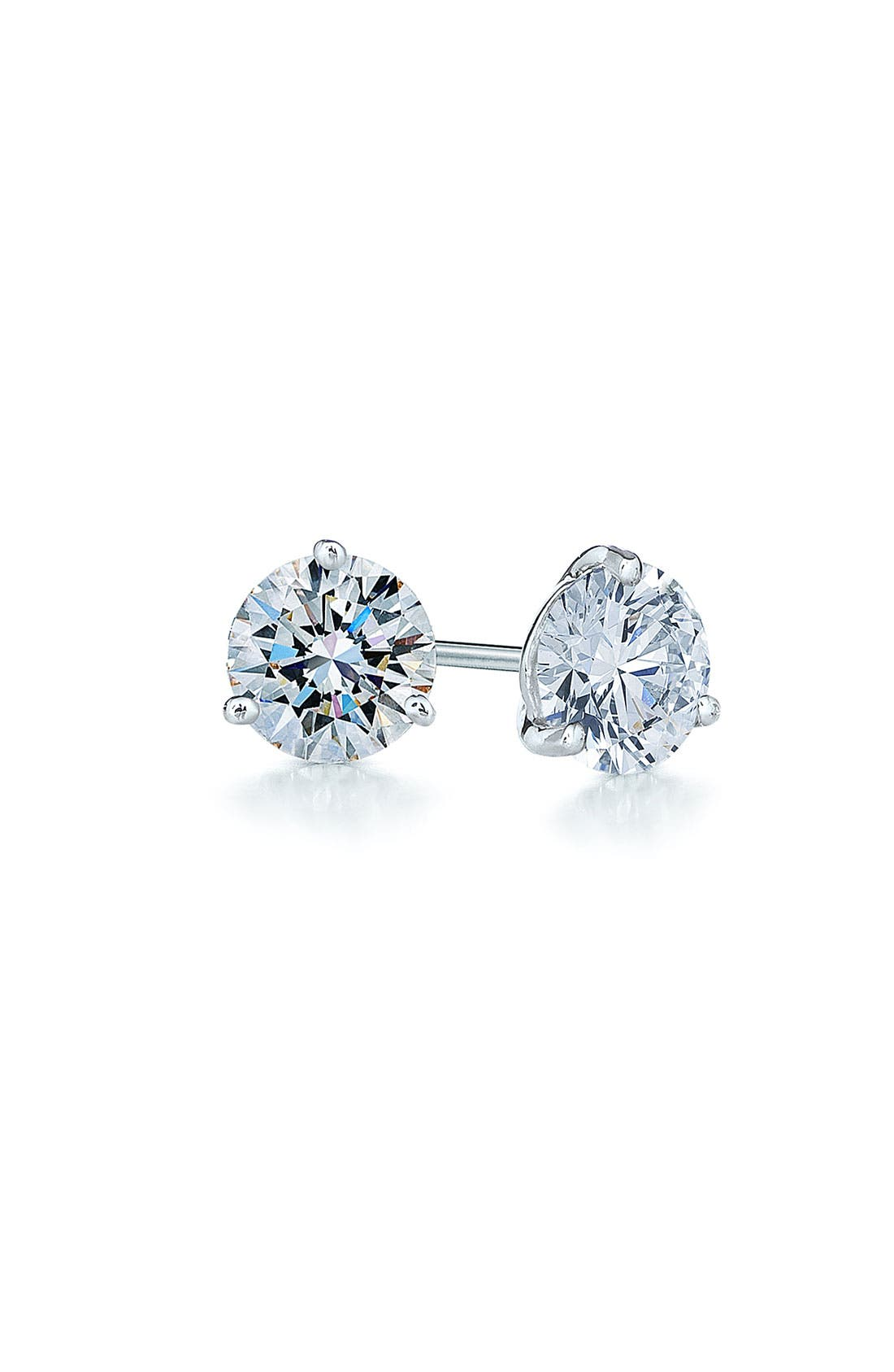 0.50ct tw Diamond & Platinum Stud Earrings,                             Main thumbnail 1, color,                             PLATINUM
