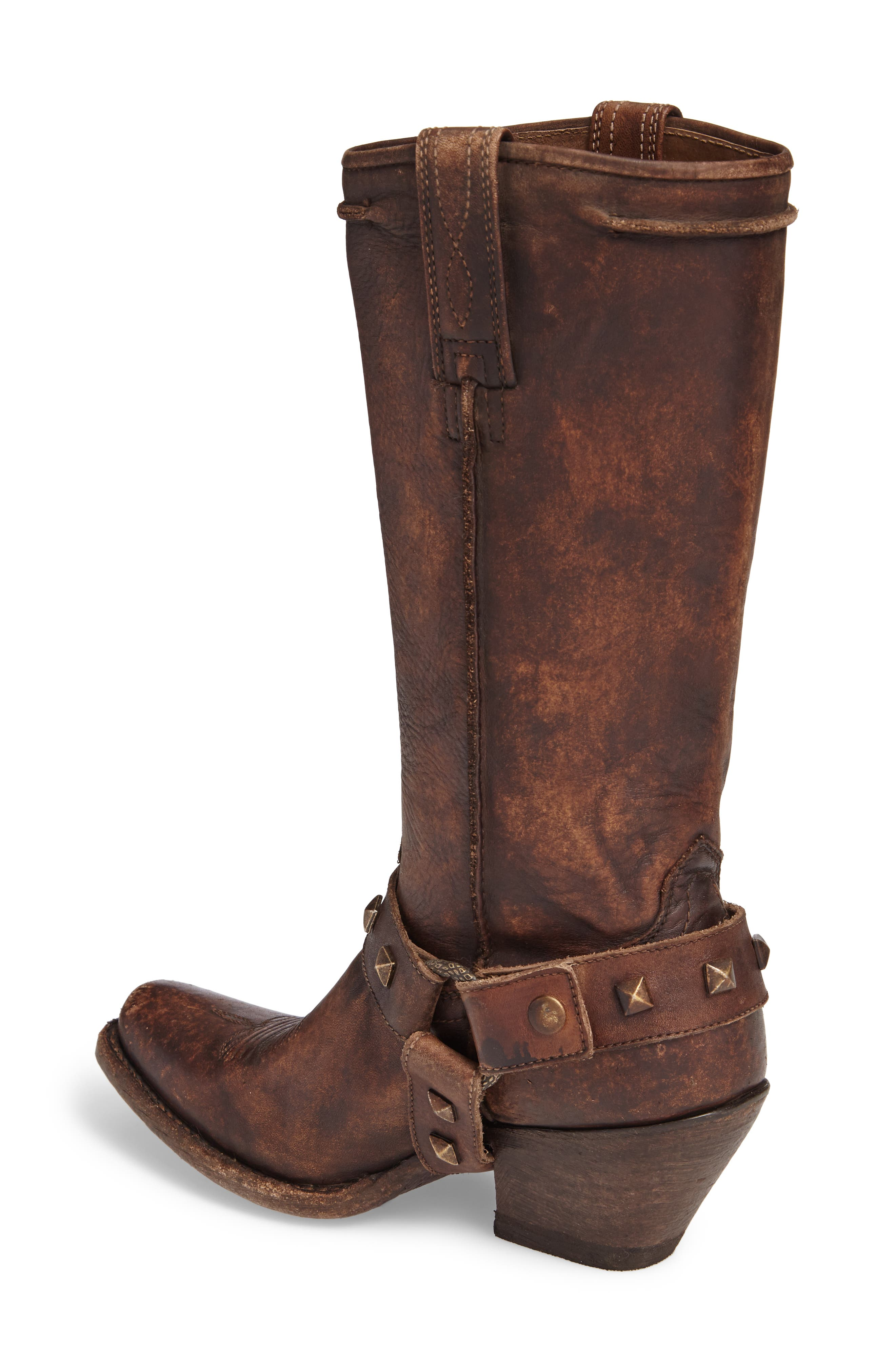 Rowan Western Harness Boot,                             Alternate thumbnail 2, color,                             NATURAL NORWOOD LEATHER