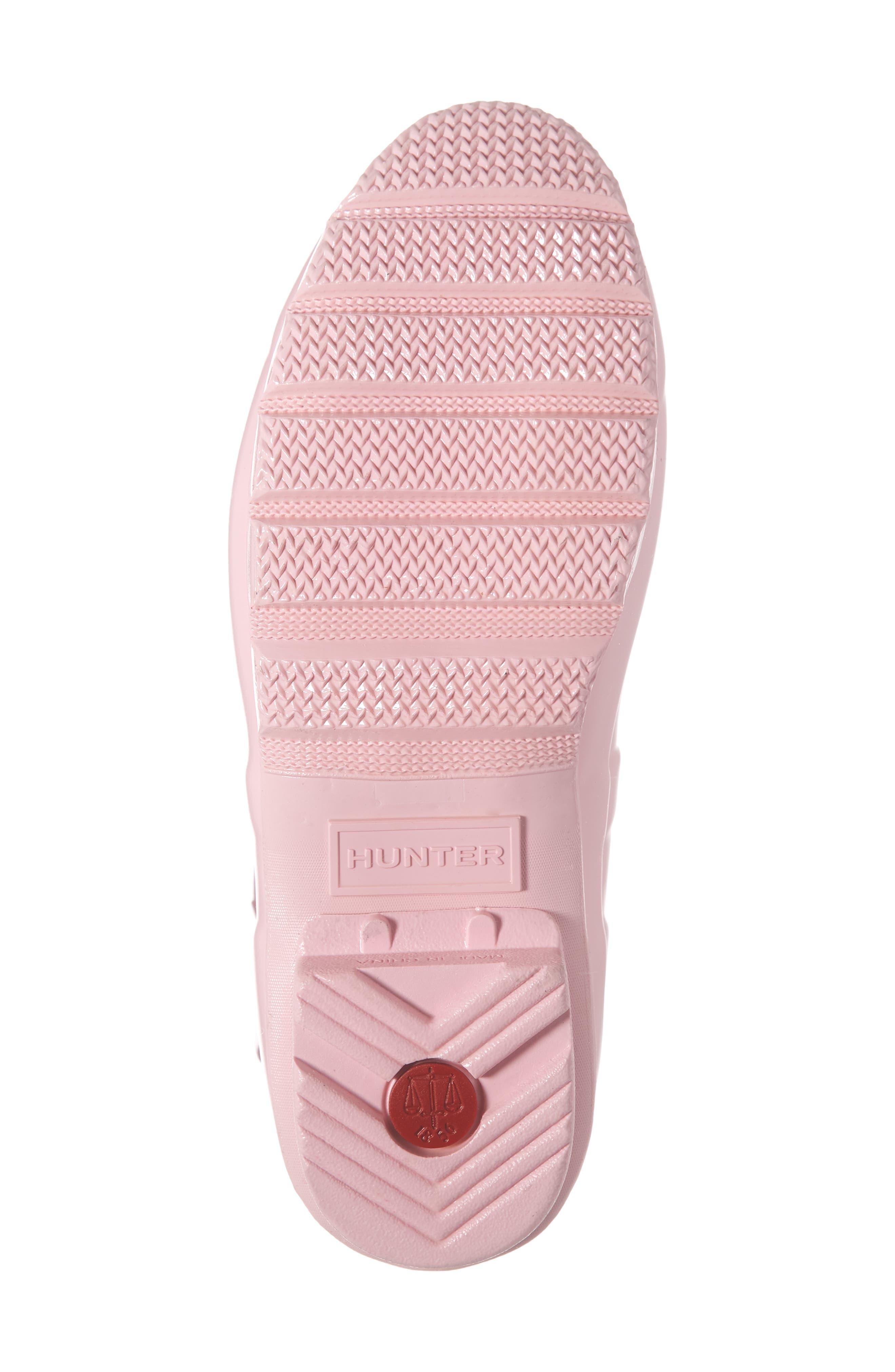 HUNTER,                             Original Short Adjustable Back Gloss Waterproof Rain Boot,                             Alternate thumbnail 6, color,                             CANDY FLOSS RUBBER