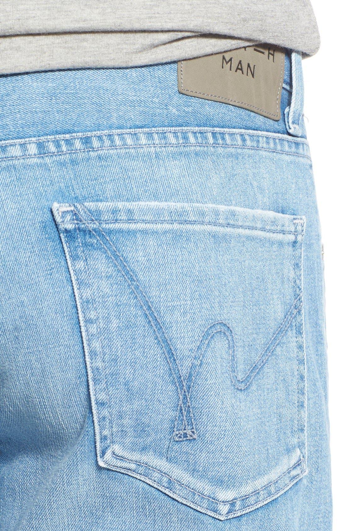 'Sid' Straight Leg Jeans,                             Alternate thumbnail 5, color,                             465