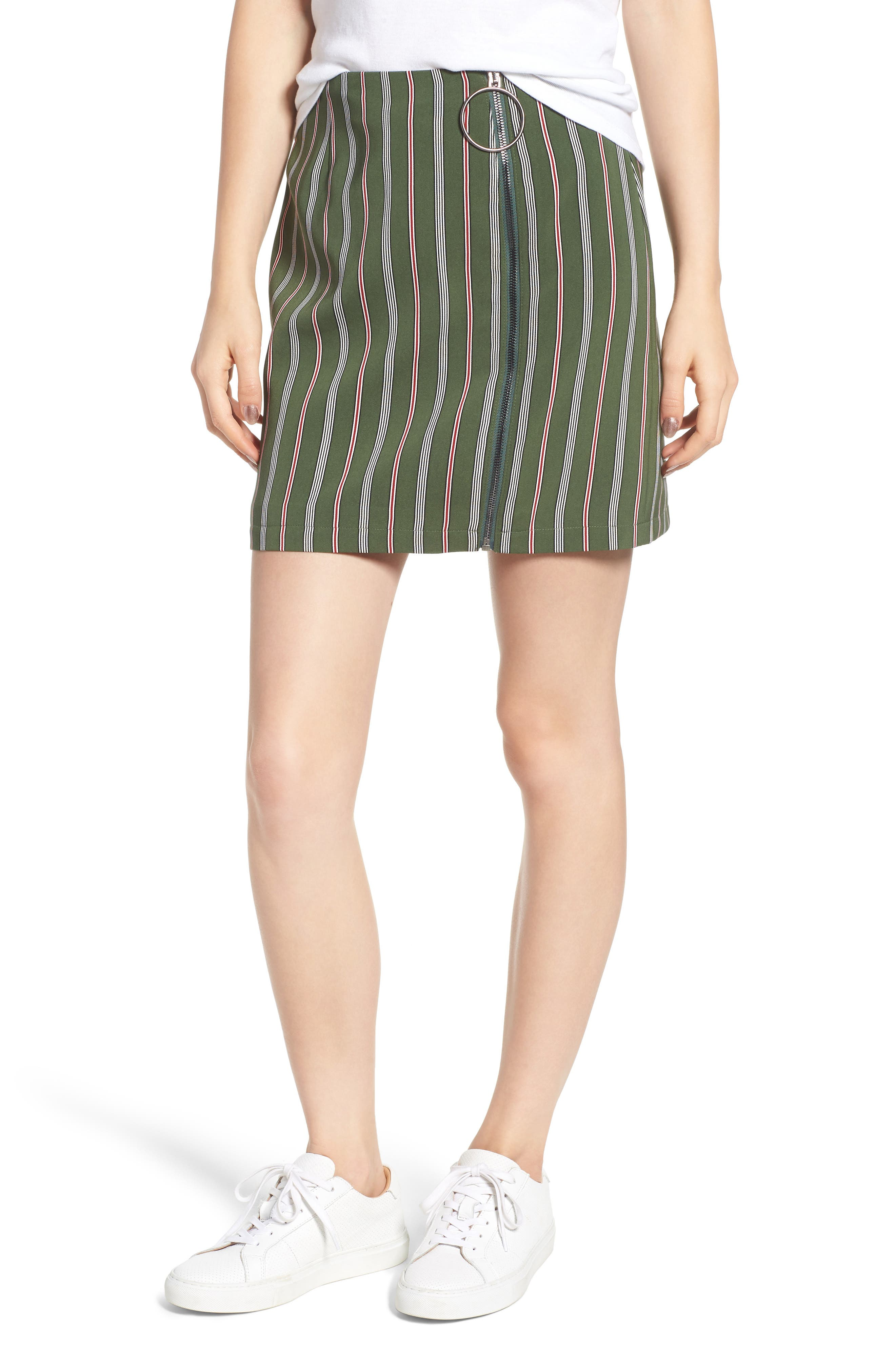 Axial Stripe Miniskirt,                         Main,                         color, 300