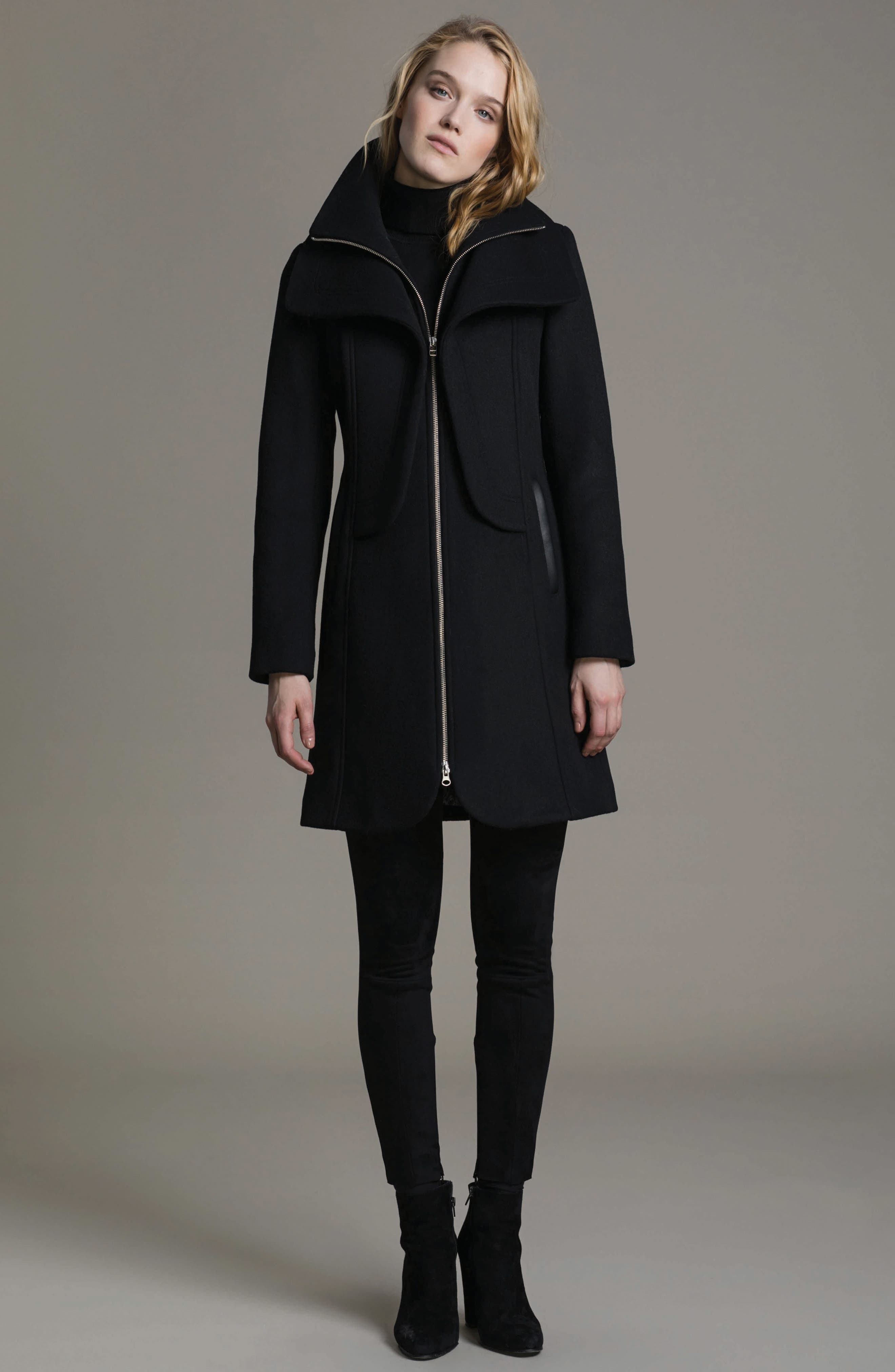 Hooded Trench,                             Alternate thumbnail 5, color,                             001