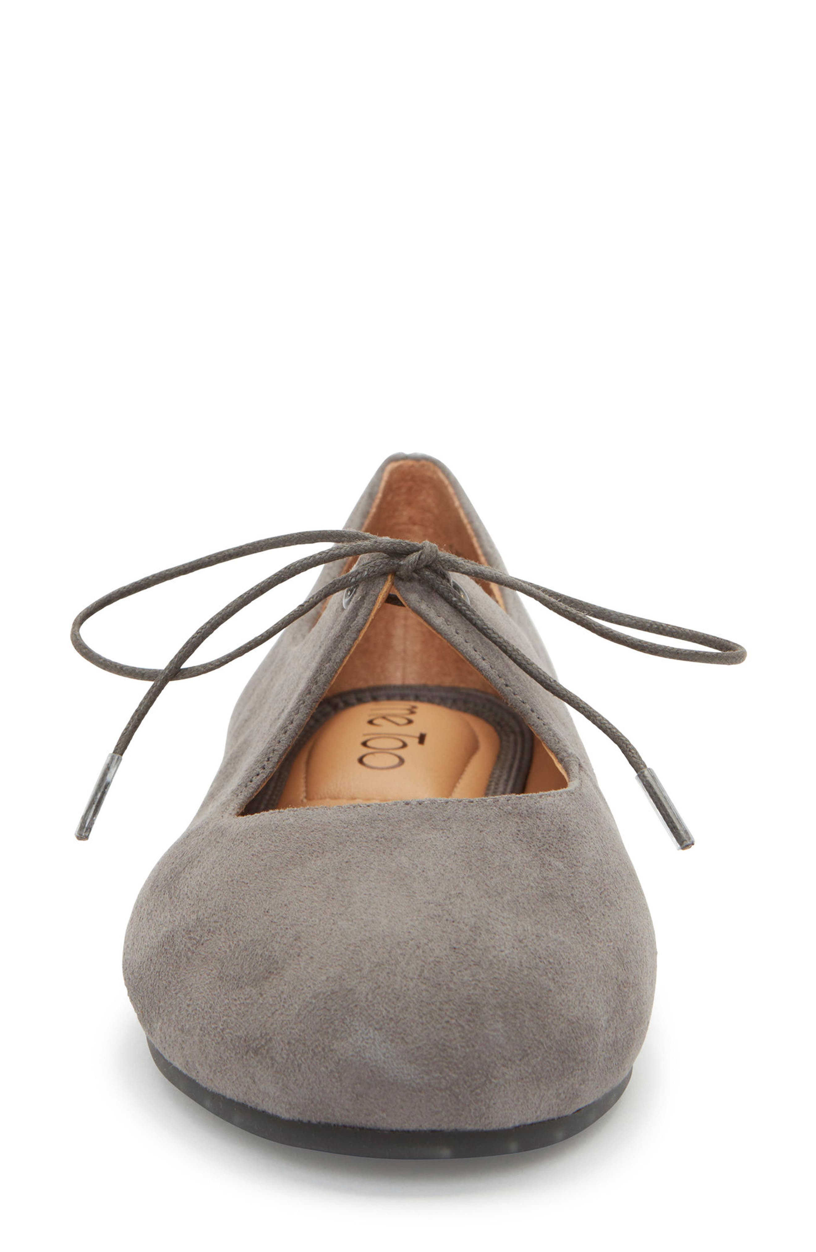 Cacey Mary Jane Flat,                             Alternate thumbnail 4, color,                             CHARCOAL SUEDE