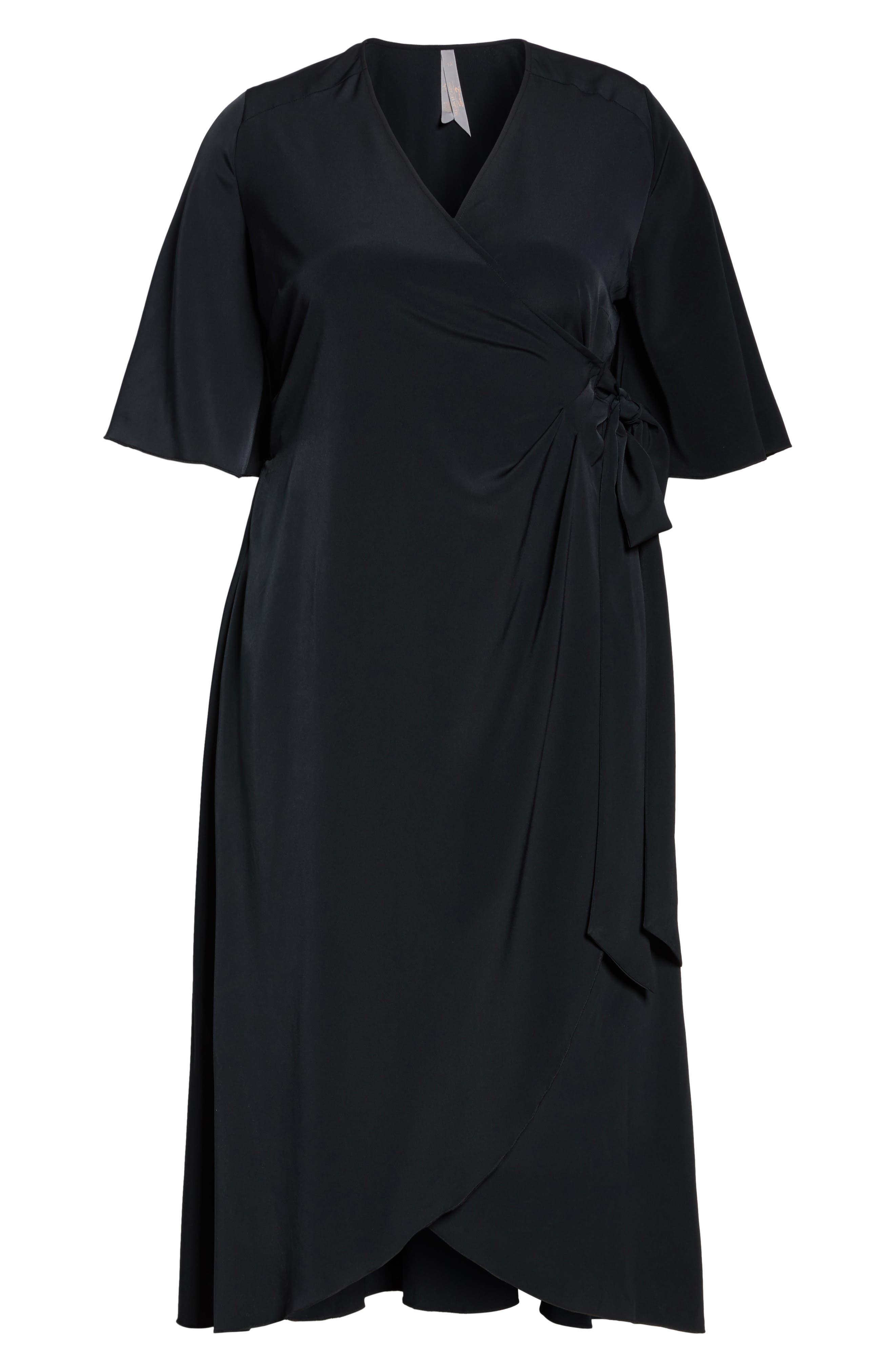 Wrap Dress,                             Alternate thumbnail 6, color,                             001