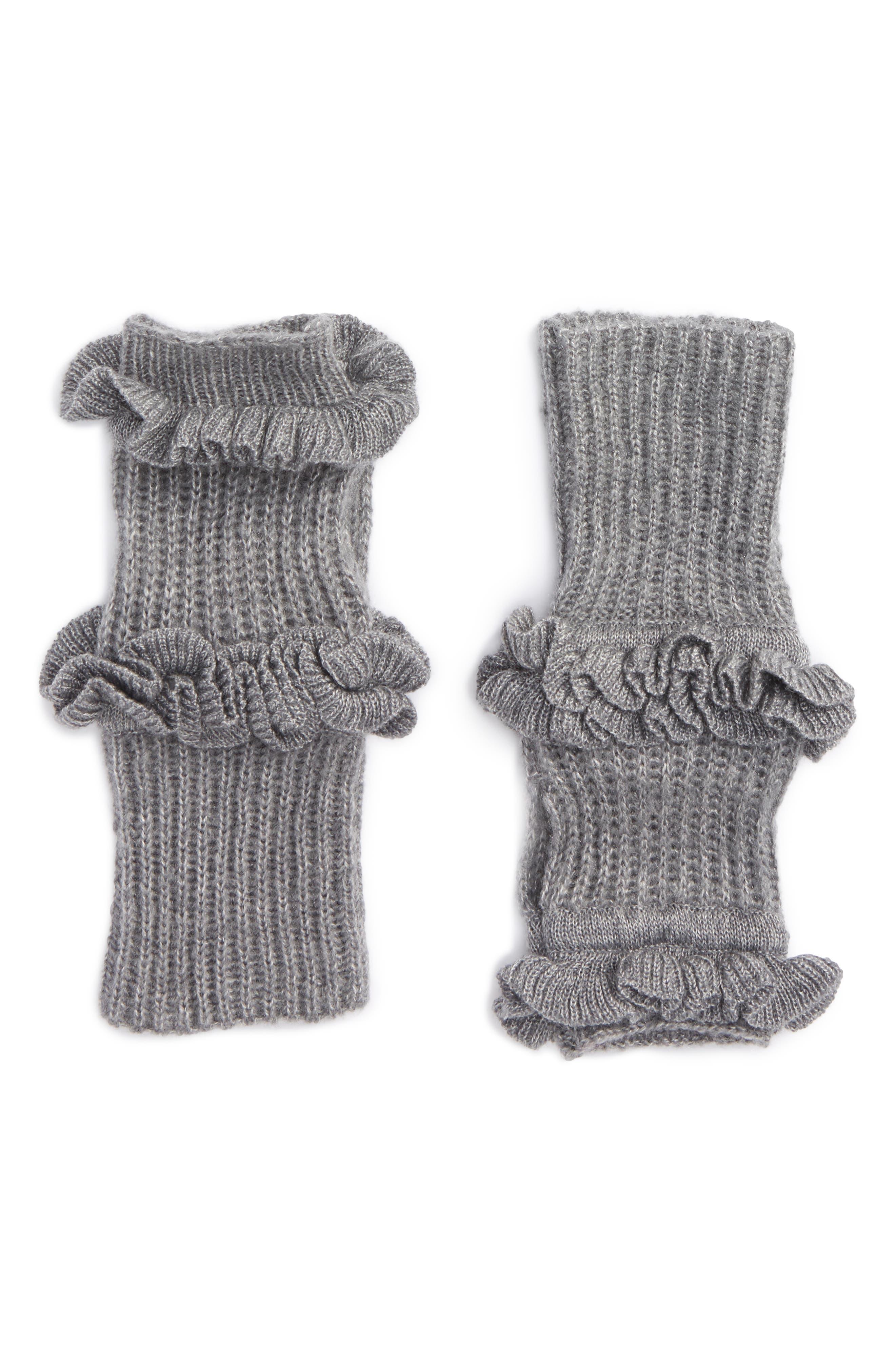 Ruffle Fingerless Gloves,                             Main thumbnail 2, color,