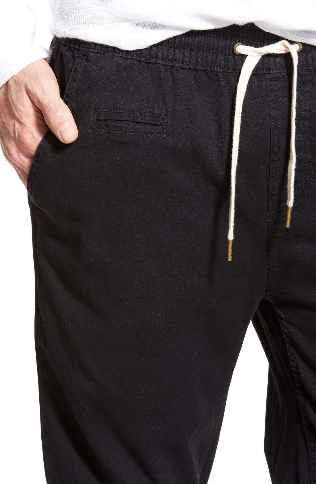 'Denny' Woven Jogger Pants,                             Alternate thumbnail 4, color,                             001